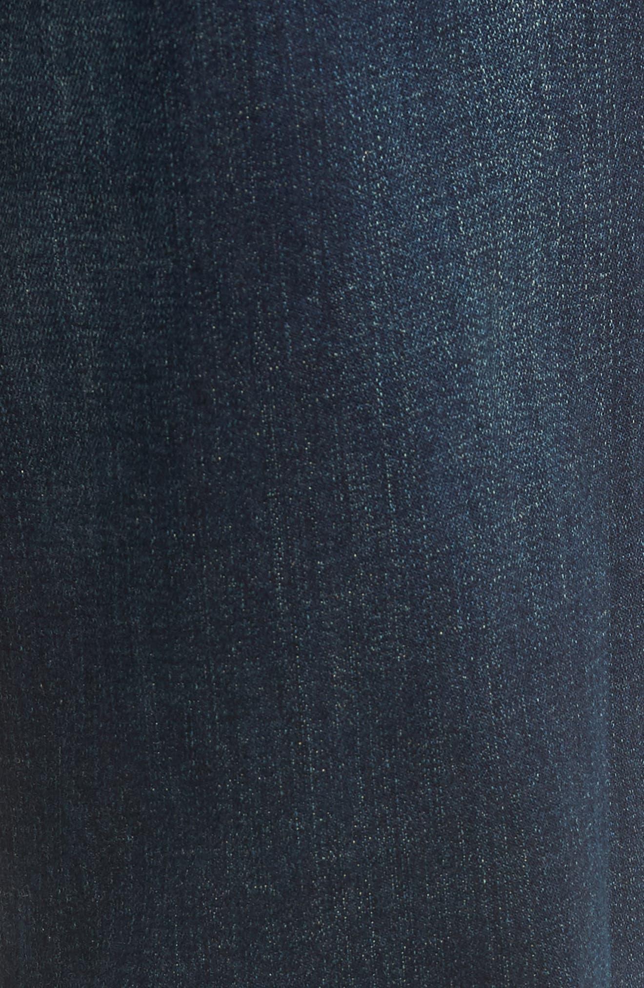 Stanton Straight Leg Jeans,                             Alternate thumbnail 5, color,                             WORTHLESS TENDENCY