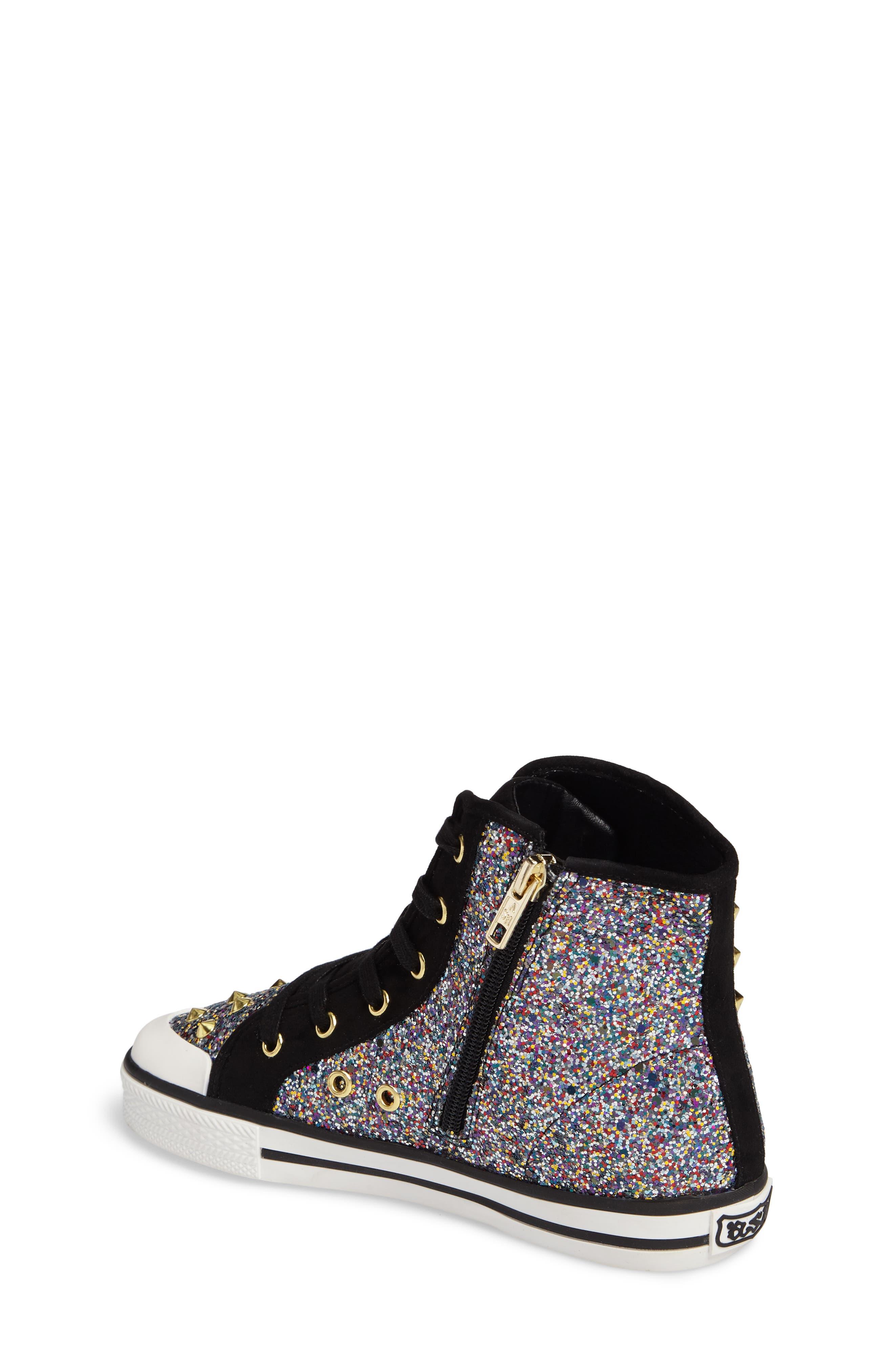Lita Roe Glittery High Top Sneaker,                             Alternate thumbnail 2, color,                             003