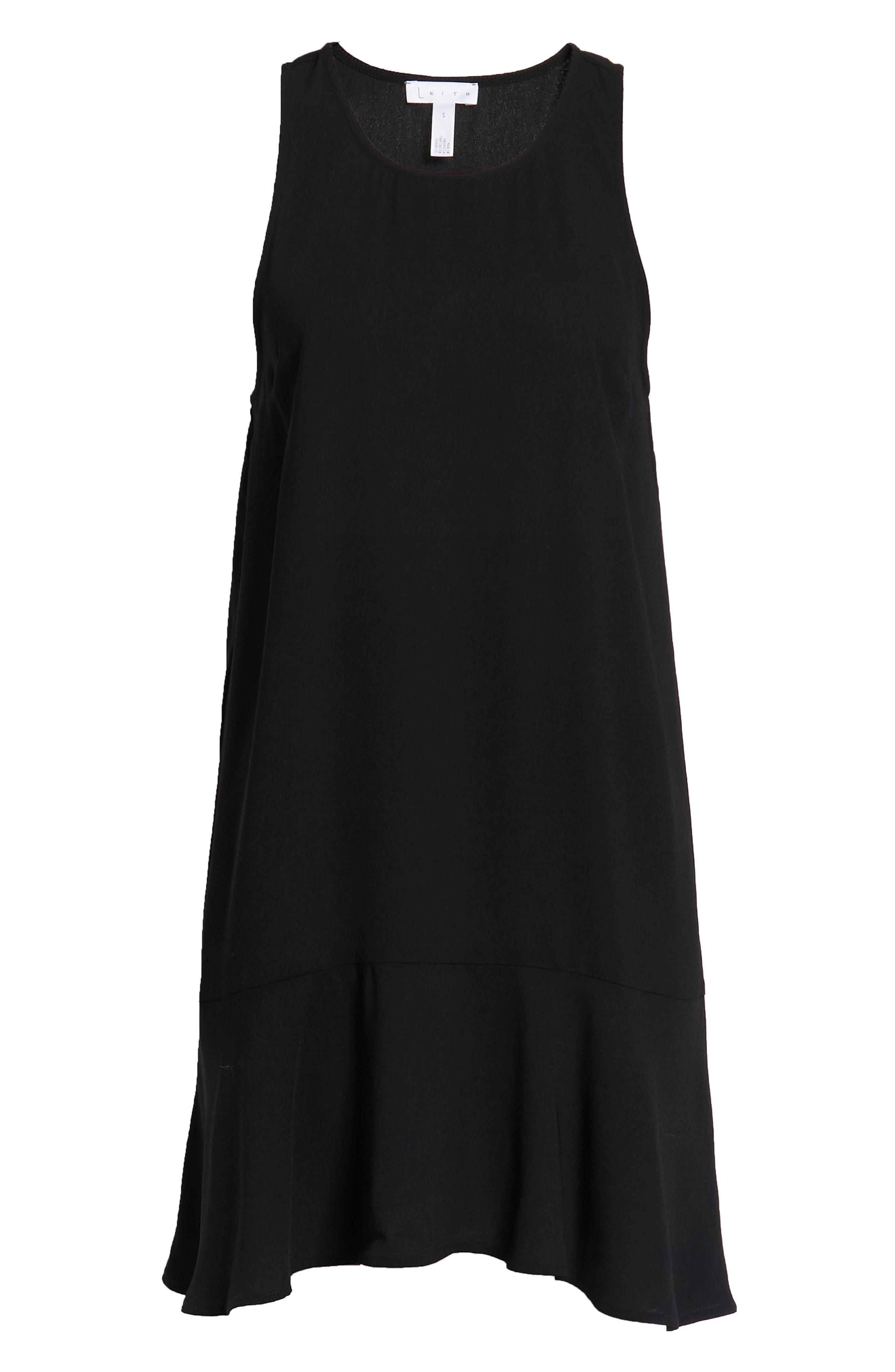 Flounce Hem Dress,                             Alternate thumbnail 7, color,                             001