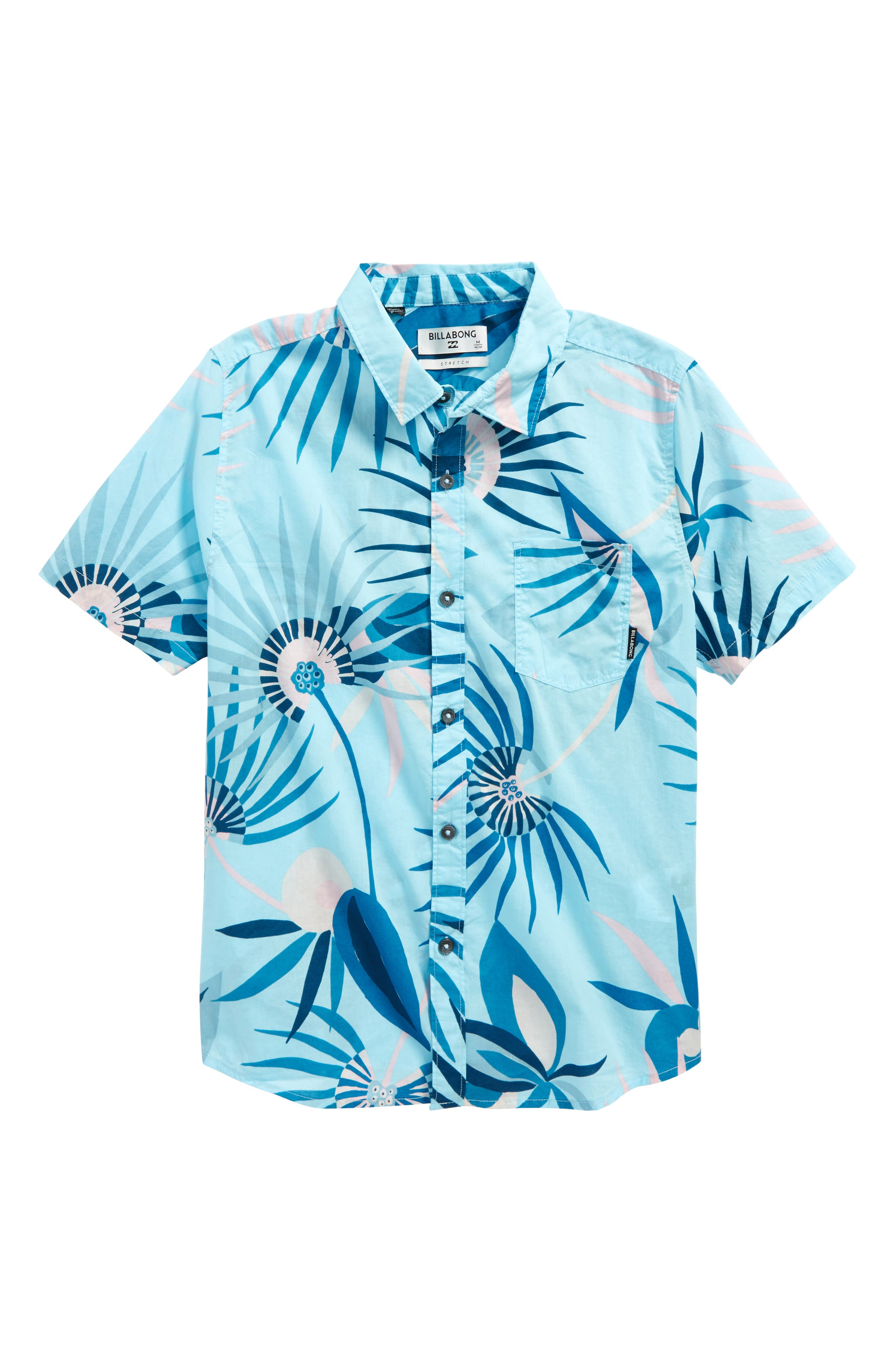 Sunday Floral Print Shirt,                             Main thumbnail 1, color,                             428