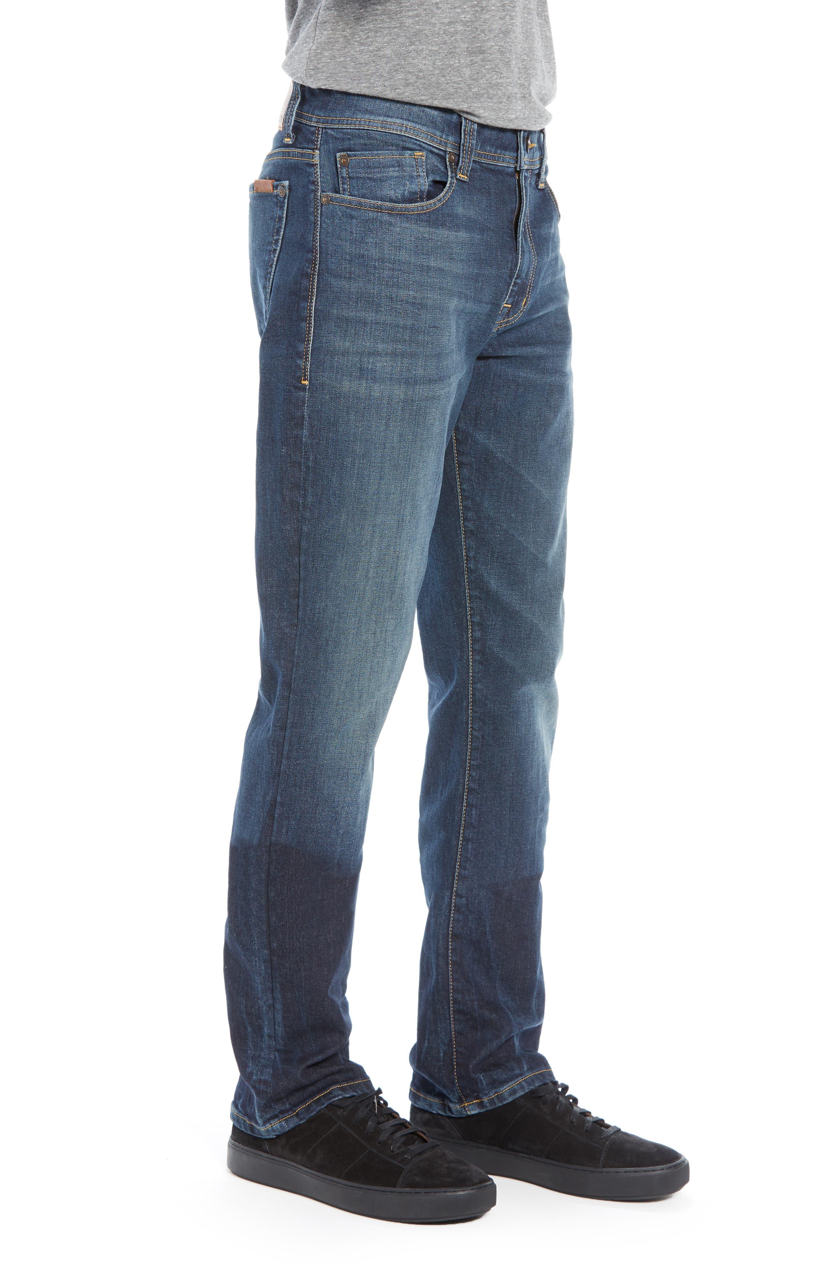 Jimmy Slim Straight Leg Jeans,                             Alternate thumbnail 3, color,                             NIAGARA