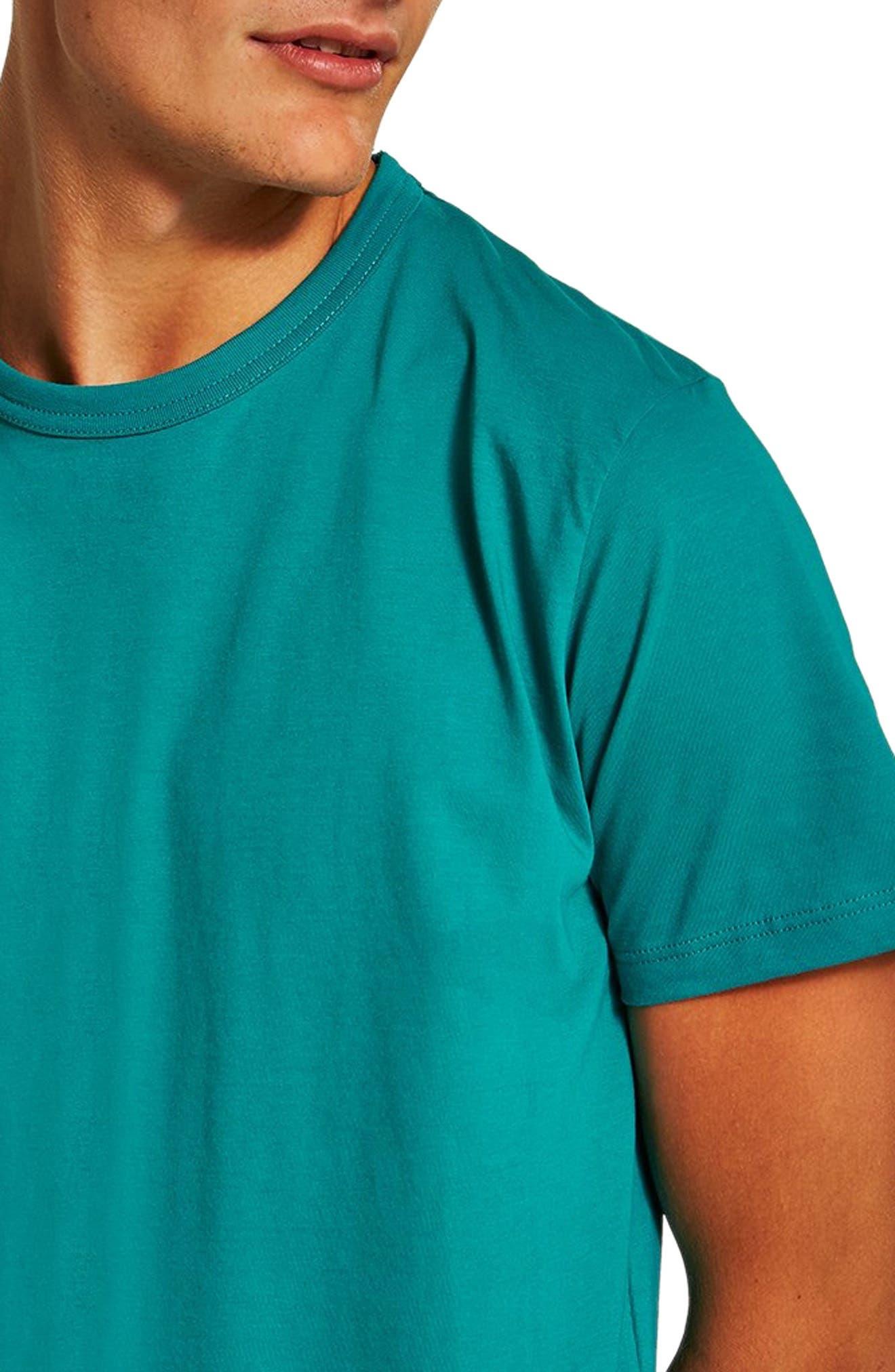 Classic Fit T-Shirt,                             Alternate thumbnail 3, color,                             AQUA