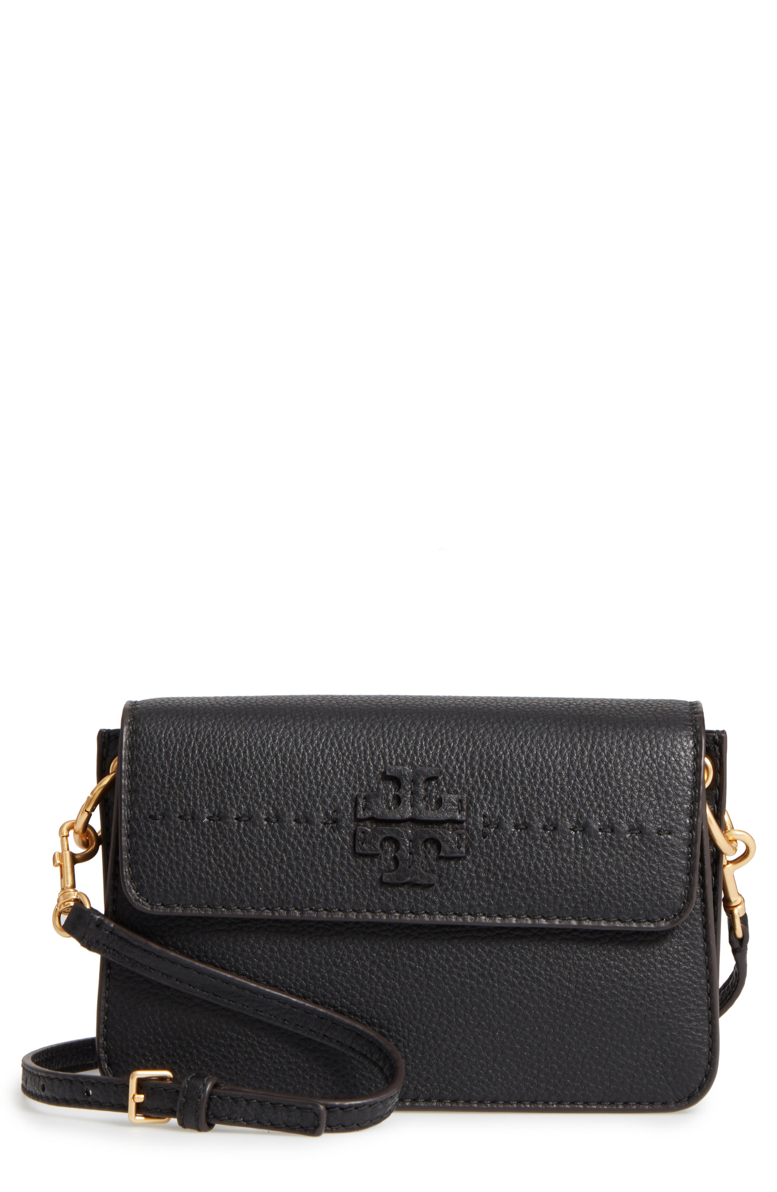 McGraw Leather Shoulder Bag,                             Main thumbnail 1, color,                             001