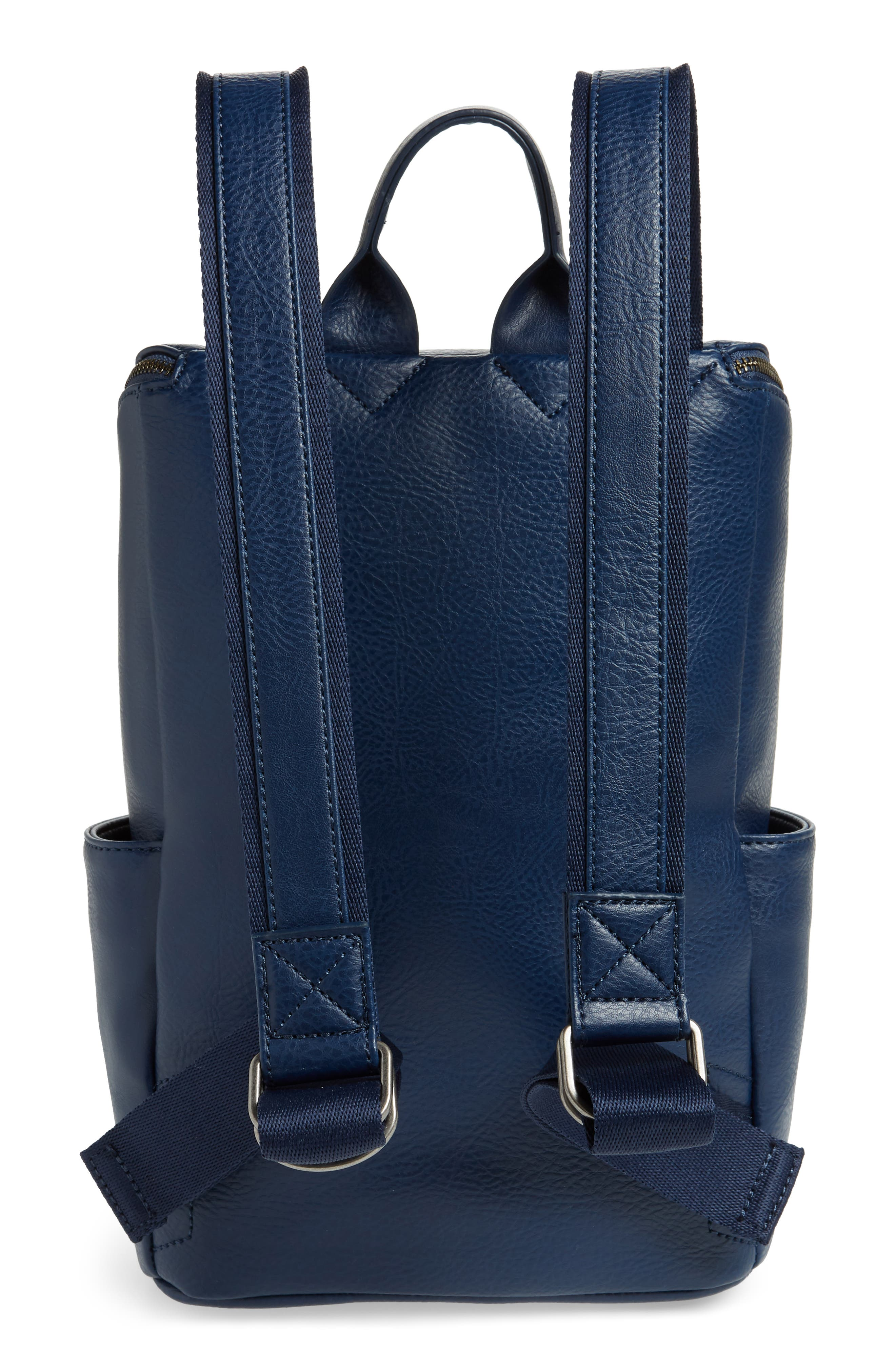 'Brave' Faux Leather Backpack,                             Alternate thumbnail 3, color,                             ALLURE