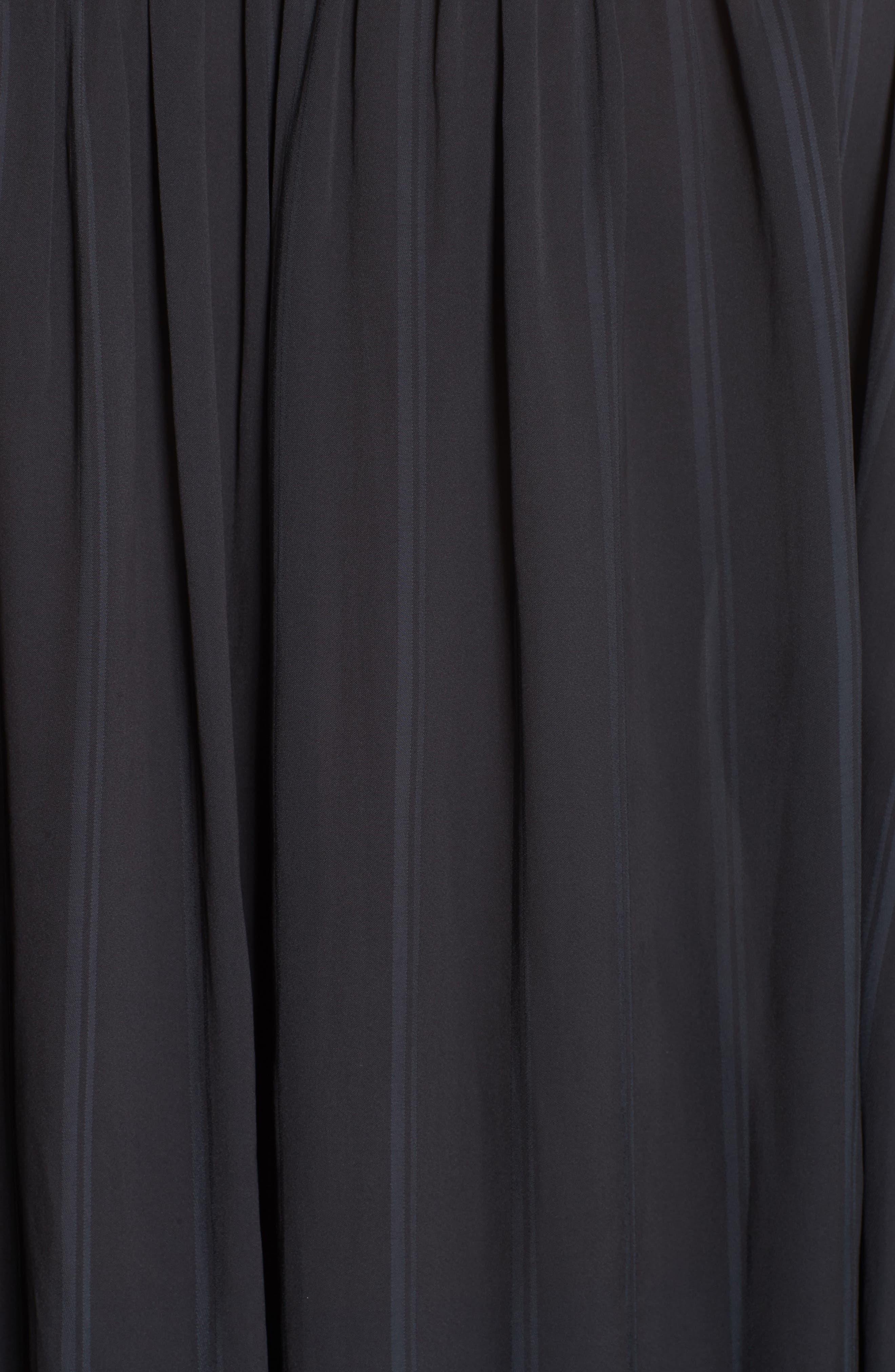Stripe Balloon Sleeve Blouse,                             Alternate thumbnail 5, color,                             BLACK SHADOW STRIPE