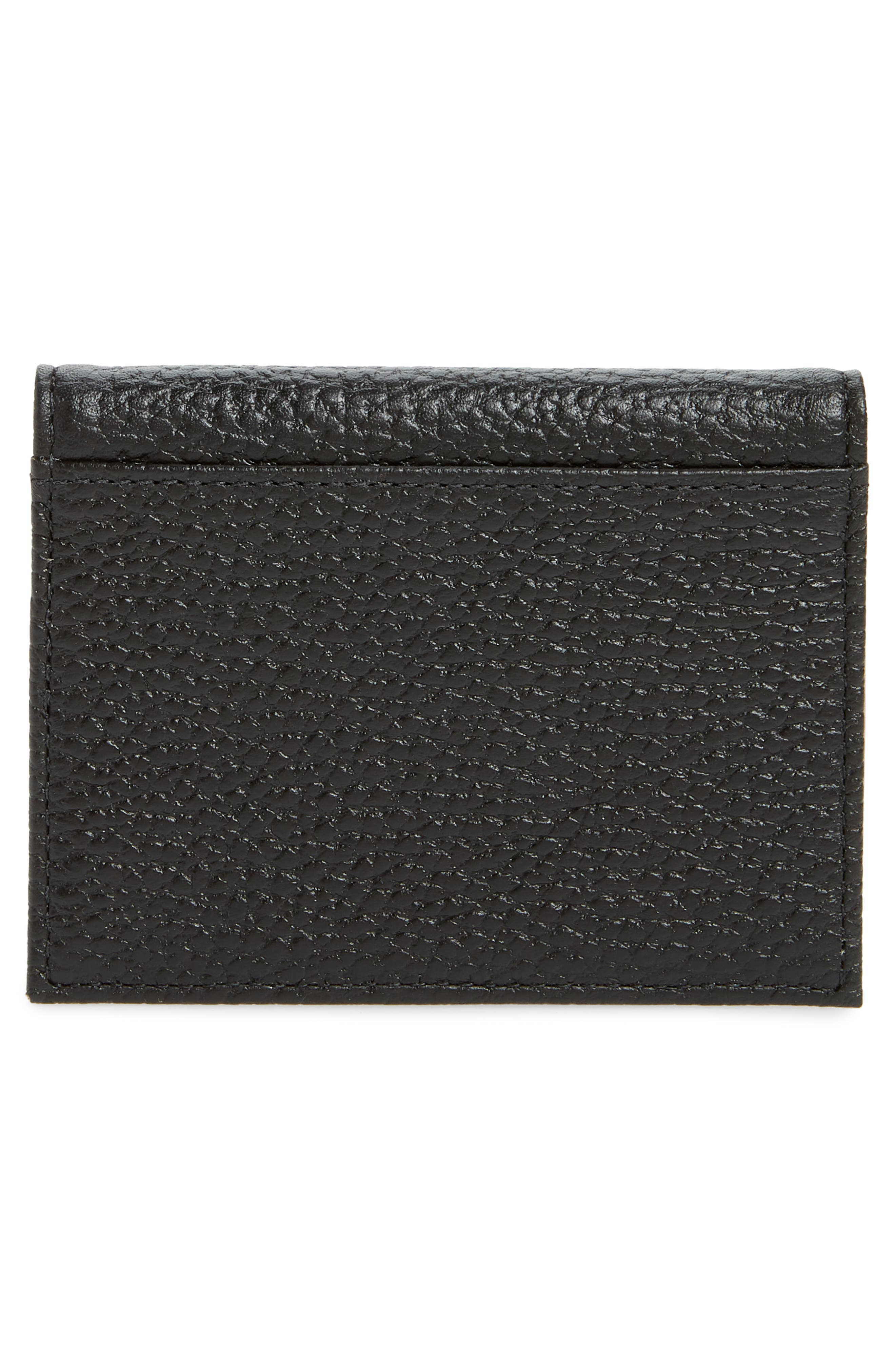 TED BAKER LONDON,                             Edyth Leather Cardholder with Mirror,                             Alternate thumbnail 3, color,                             001