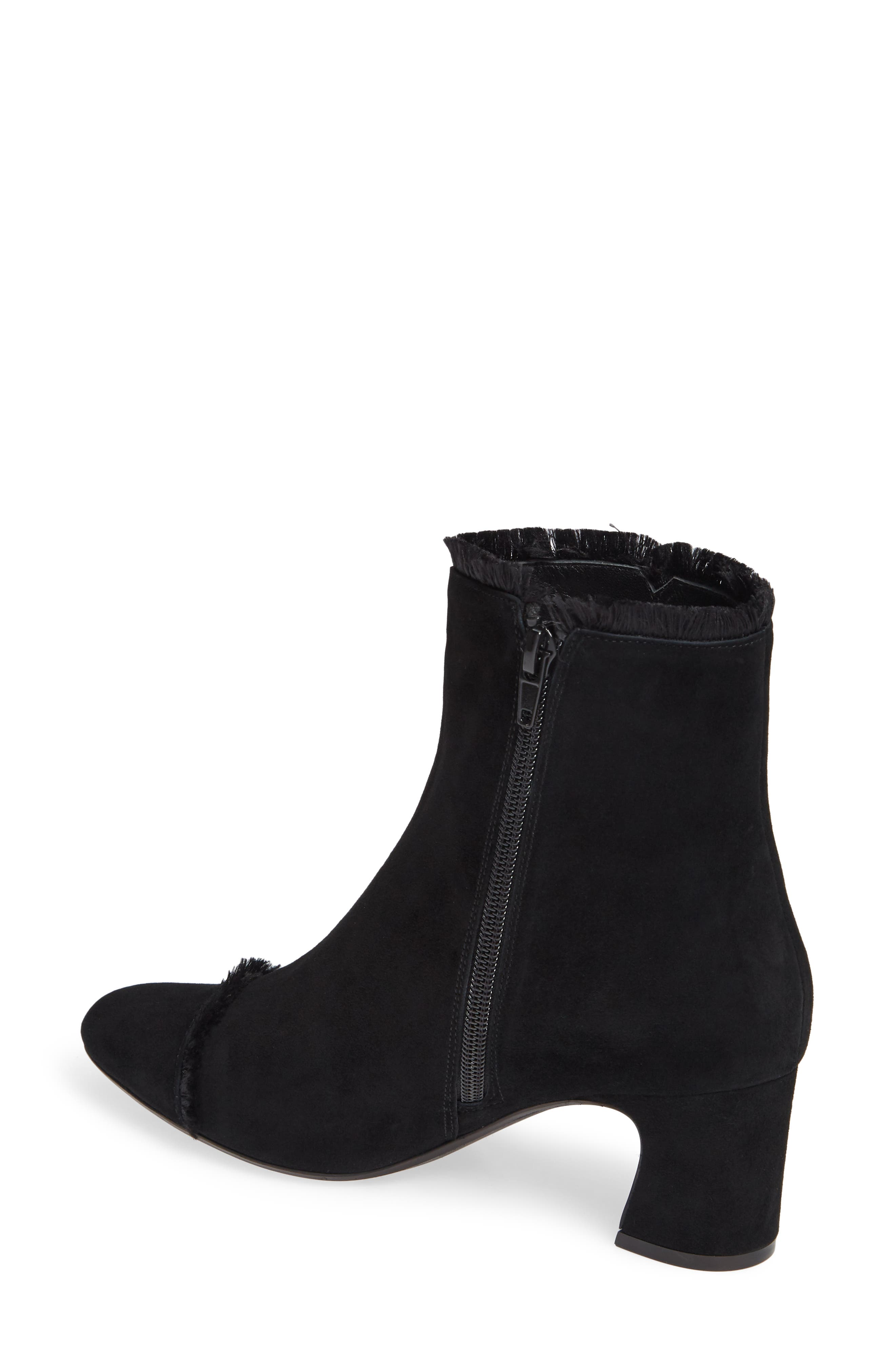 Danzing Fringe Bootie,                             Alternate thumbnail 2, color,                             BLACK SUEDE