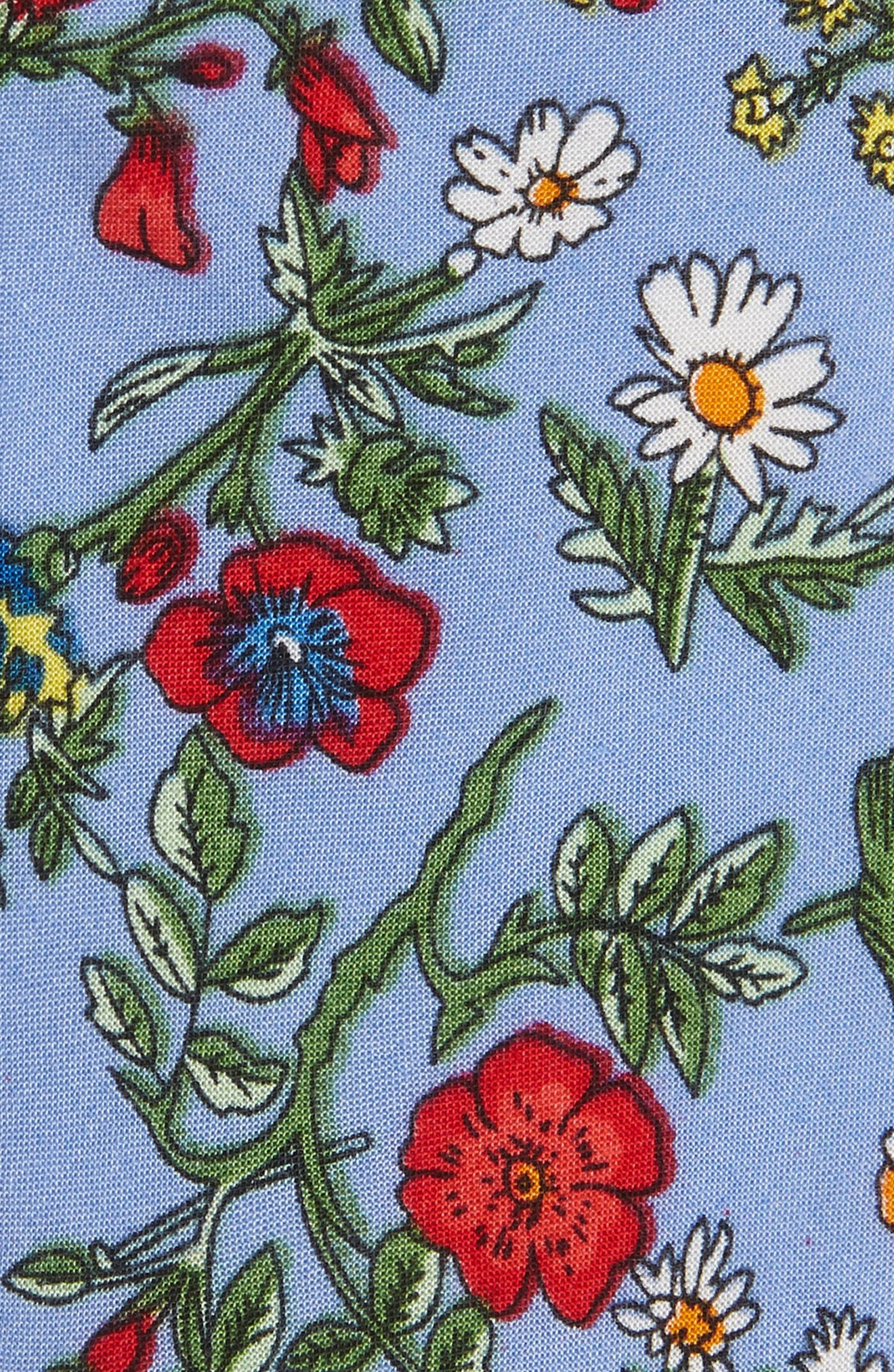 Mulberry Floral Cotton Tie,                             Alternate thumbnail 2, color,                             BLUE