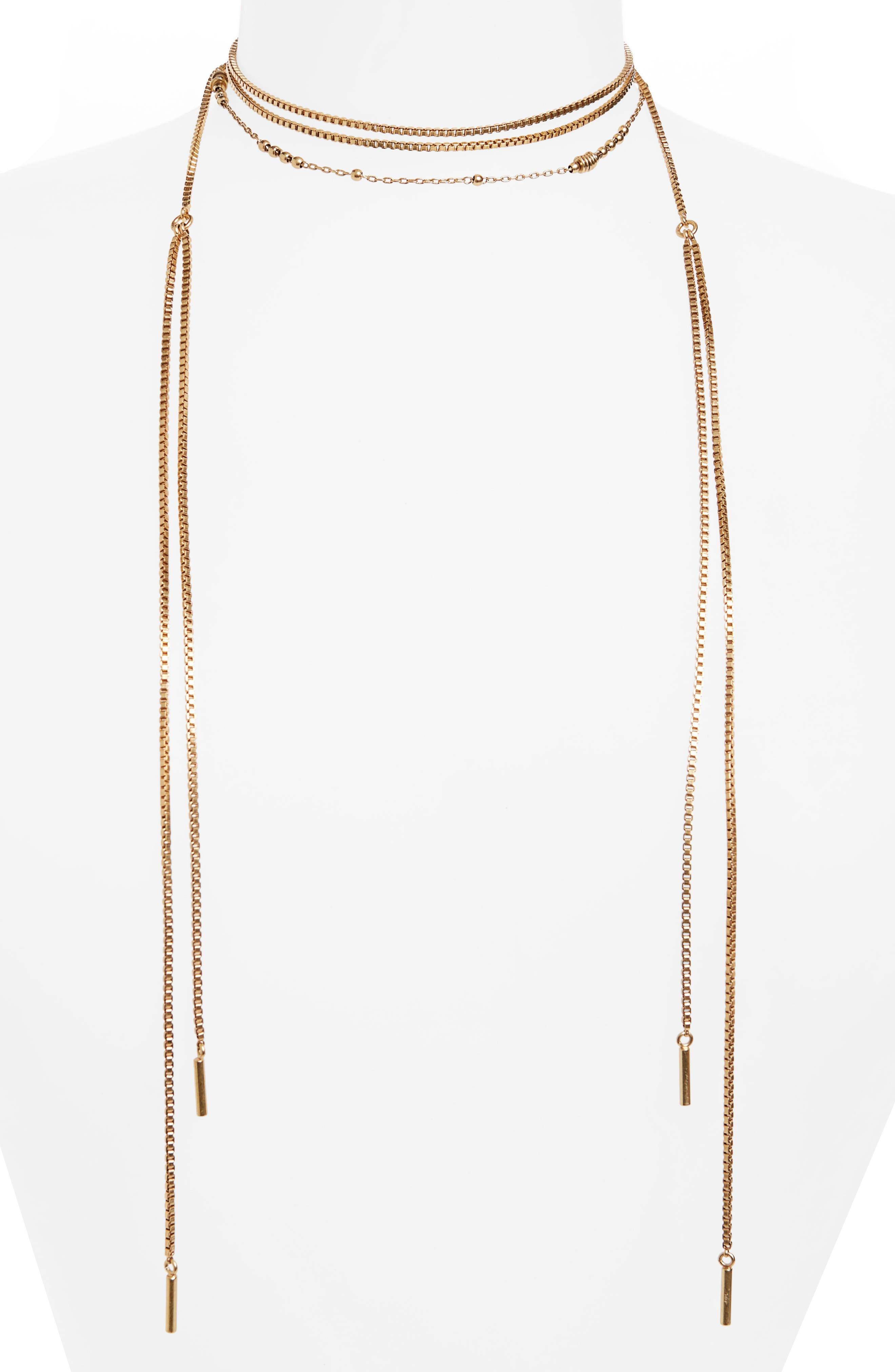 Chain Wrap Necklace,                         Main,                         color, 710