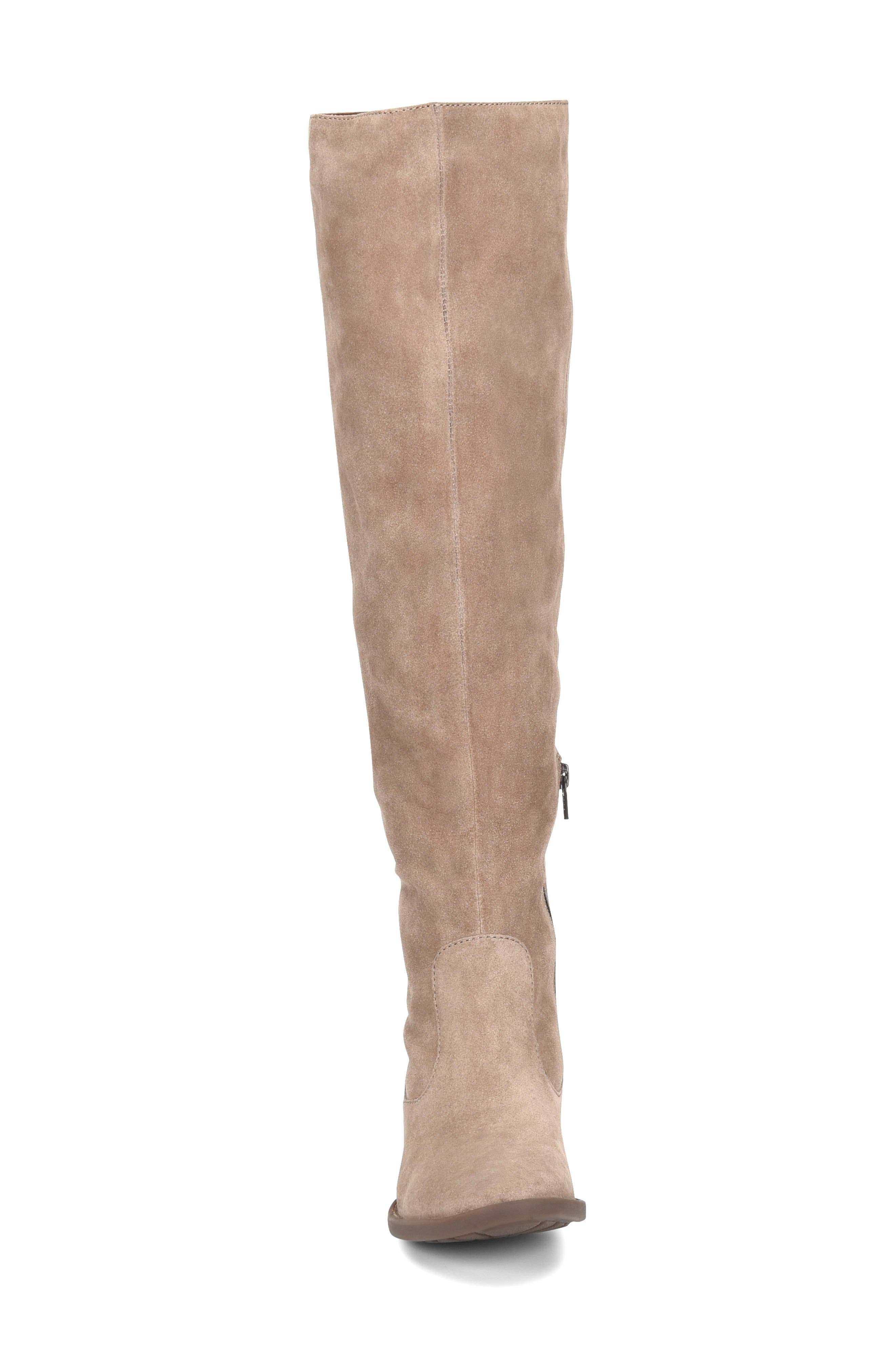 Cricket Over the Knee Boot,                             Alternate thumbnail 4, color,                             TAUPE SUEDE