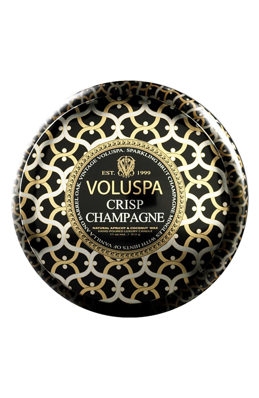 Maison Noir Crisp Champagne Maison Metallo Two-Wick Candle,                             Main thumbnail 1, color,                             NO COLOR