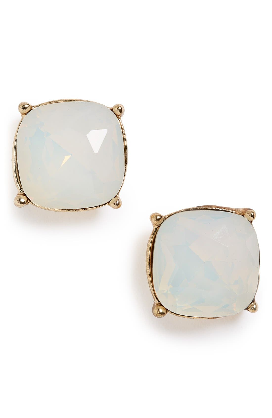 Faceted Stone Stud Earrings,                             Main thumbnail 1, color,                             100