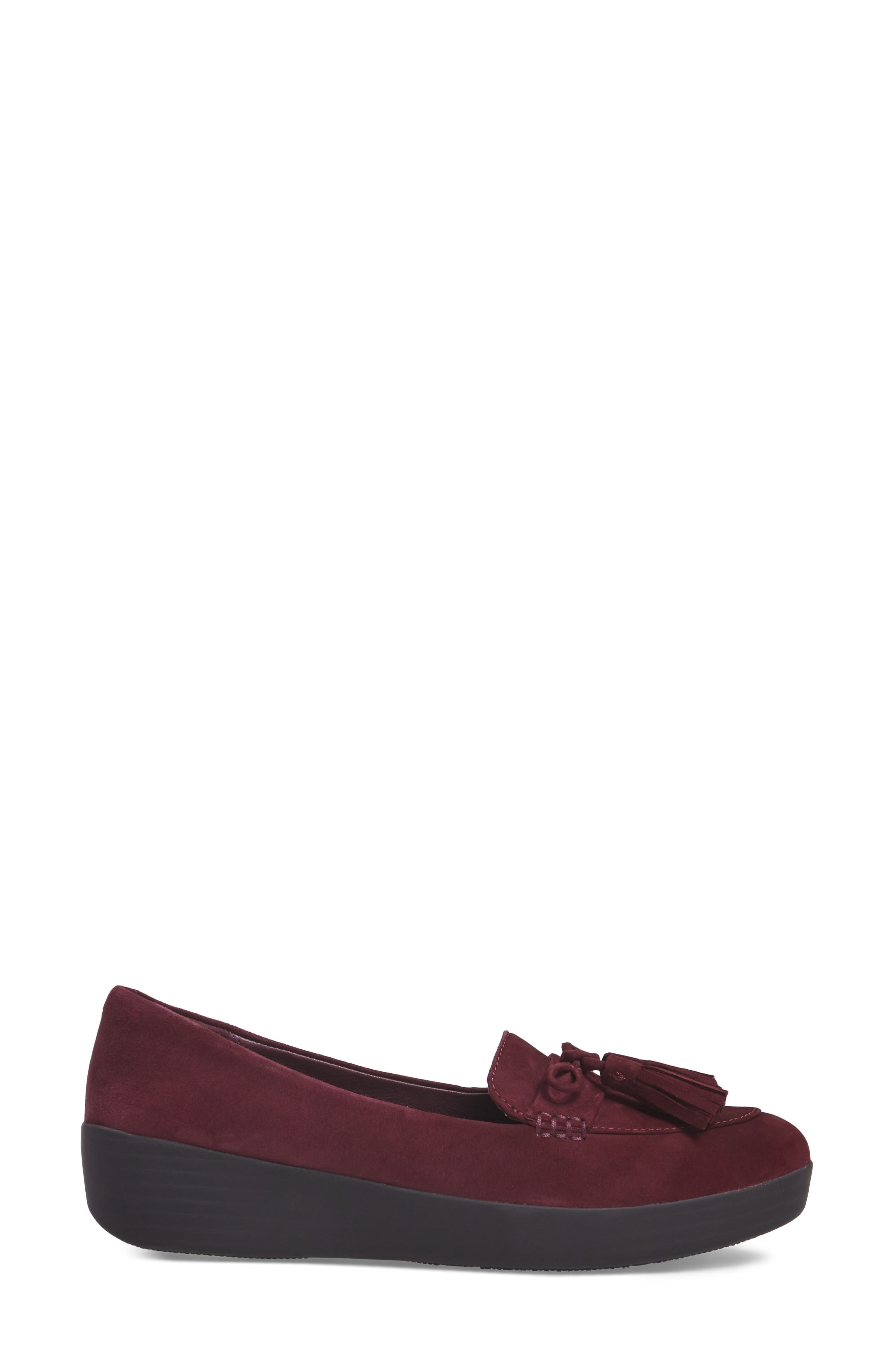 Tassel Bow Sneakerloafer<sup>™</sup> Water Repellent Flat,                             Alternate thumbnail 12, color,