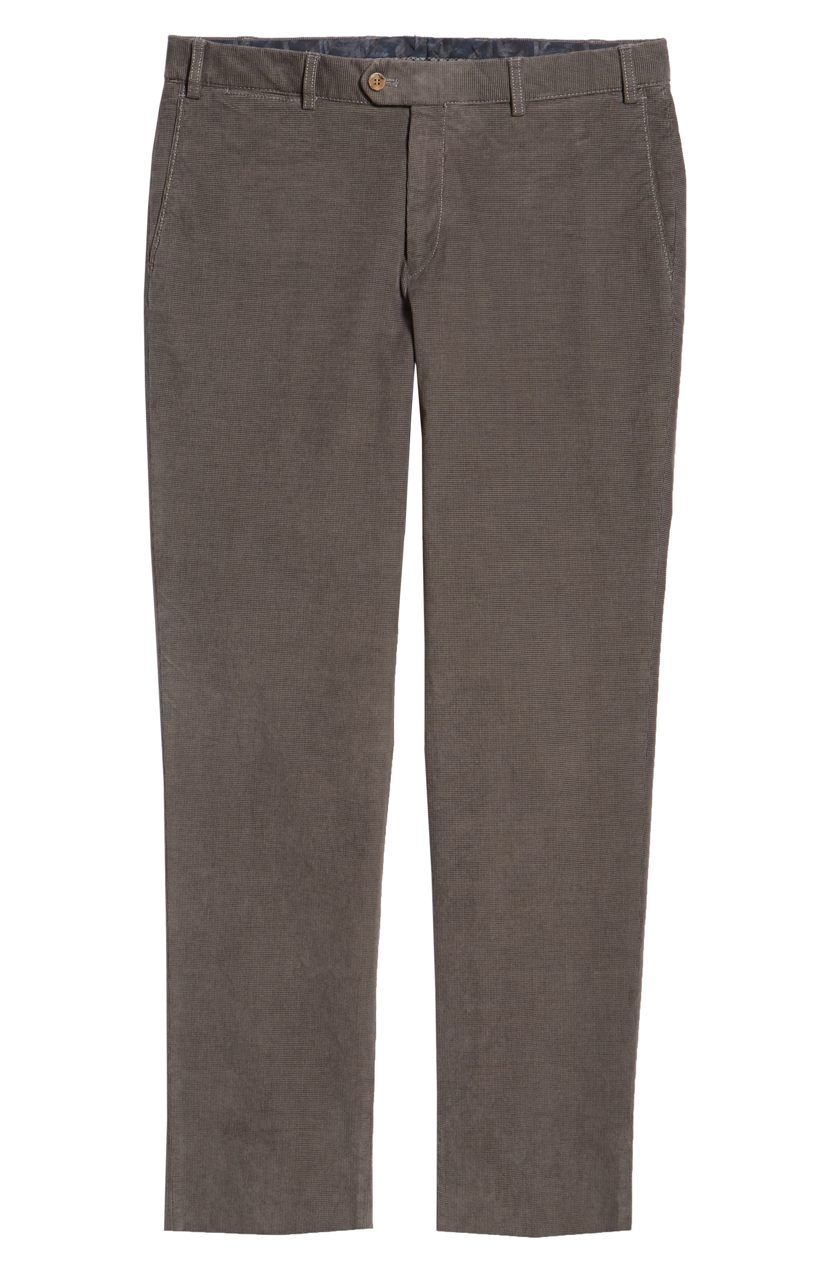 Pero Trim Fit Stretch Flat Front Trousers,                             Alternate thumbnail 6, color,                             TAUPE