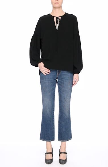 Ankle Flare High Waist Jeans, video thumbnail