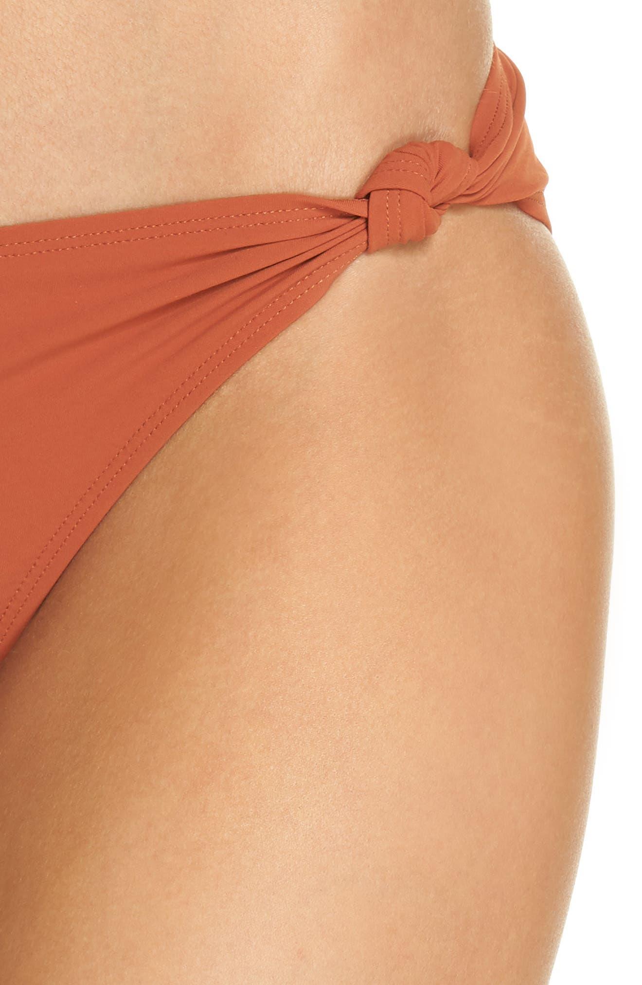 Palma Hipster Bikini Bottoms,                             Alternate thumbnail 4, color,                             DESERT SPICE