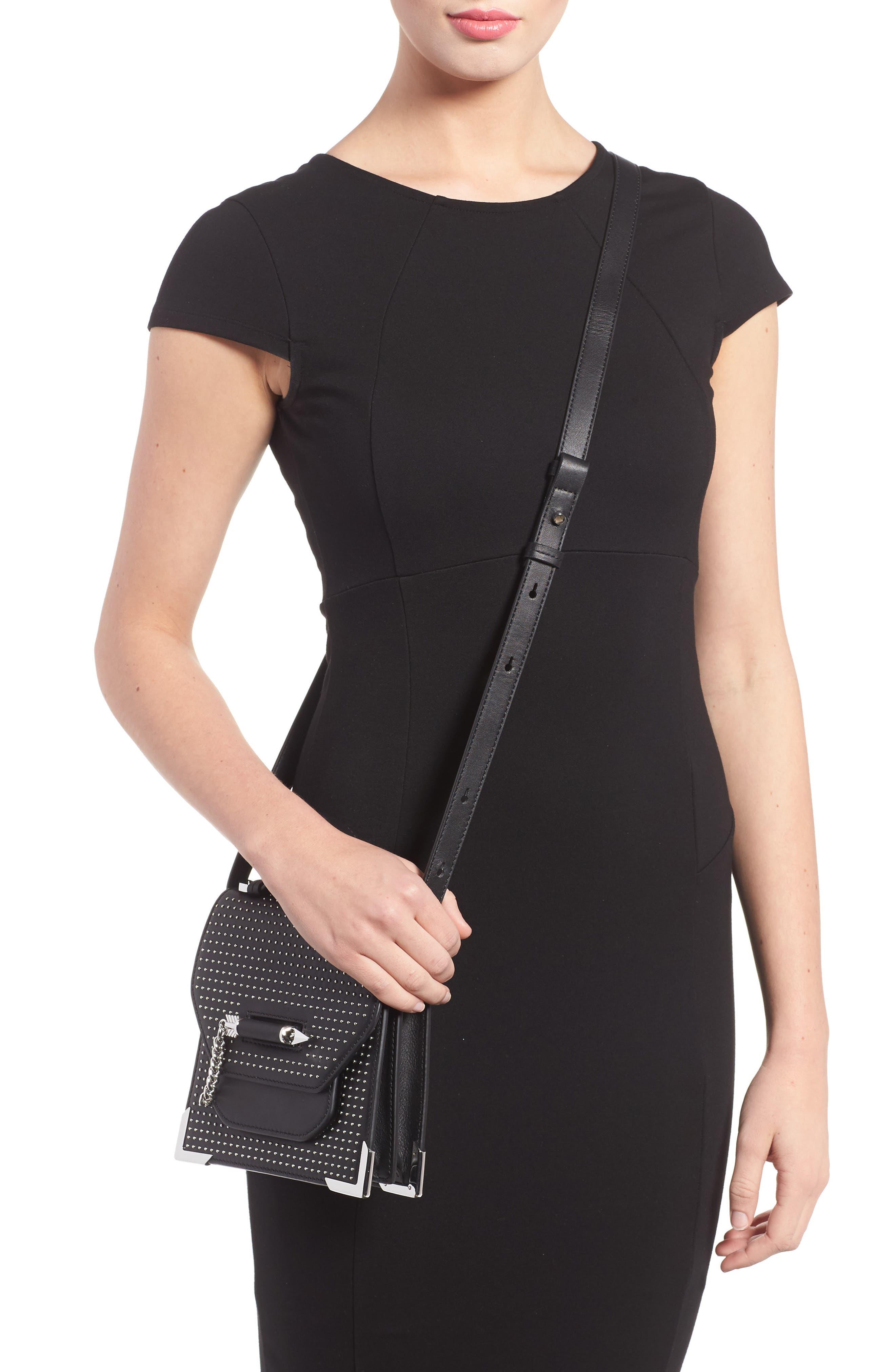 MACKAGE,                             Mini Rubie Leather Crossbody Bag,                             Alternate thumbnail 2, color,                             001