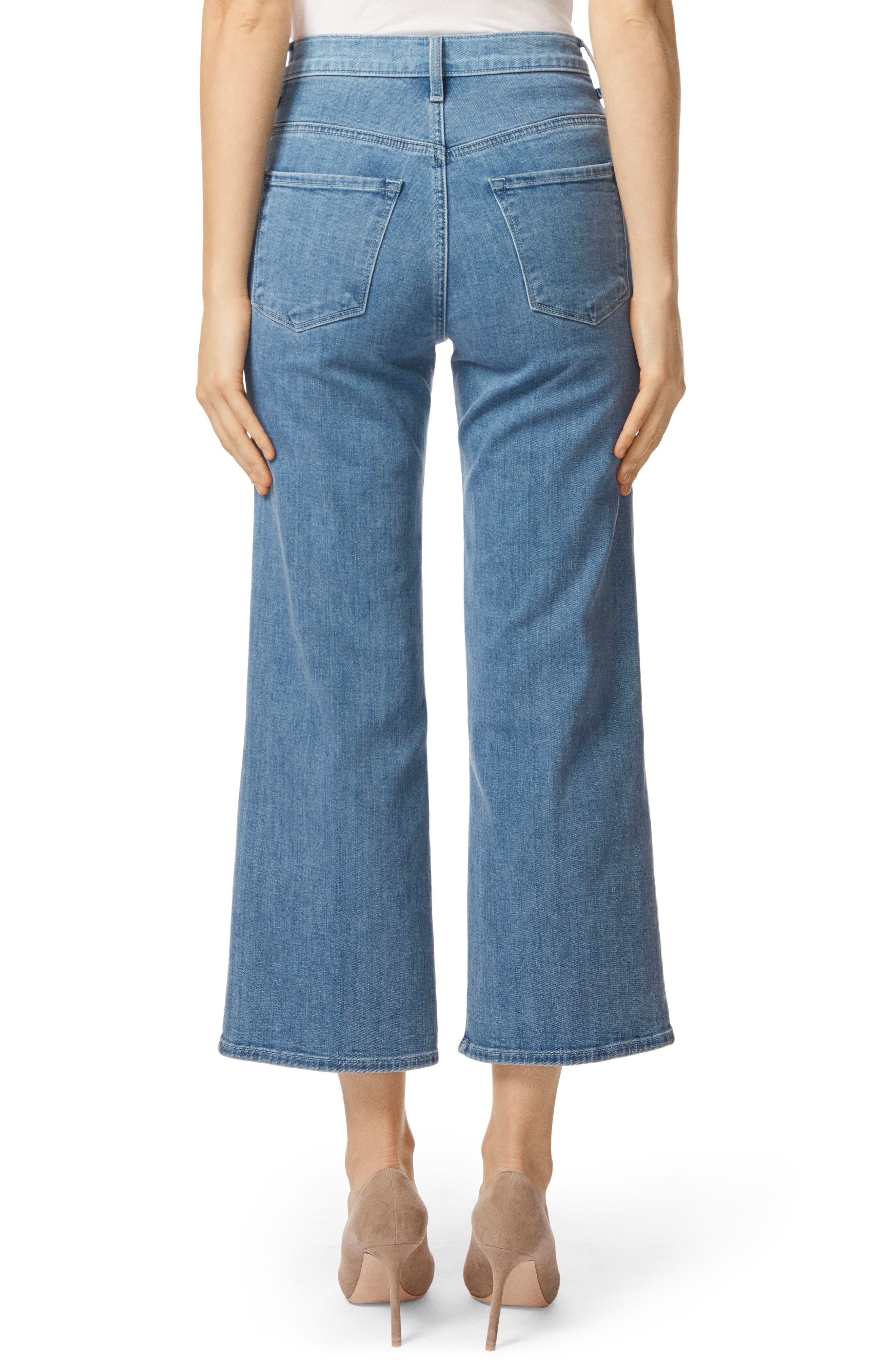 Joan High Waist Crop Wide Leg Jeans,                             Alternate thumbnail 2, color,                             457