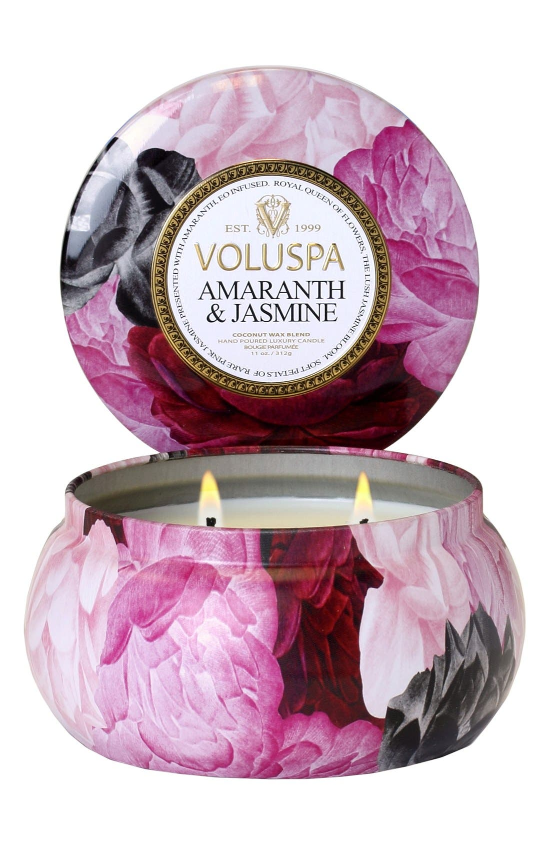 Maison Jardin Amaranth & Jasmine Maison Metallo Two-Wick Candle,                         Main,                         color, NO COLOR