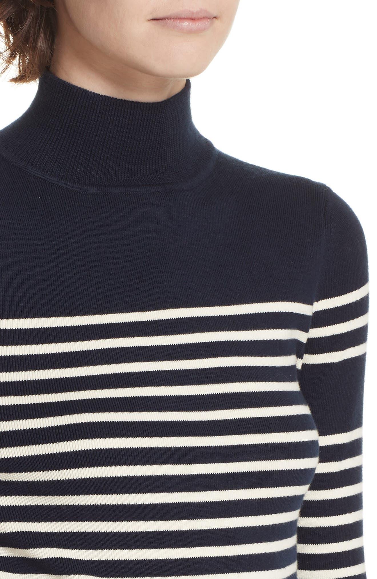 Classique Stripe Sweater,                             Alternate thumbnail 4, color,                             401