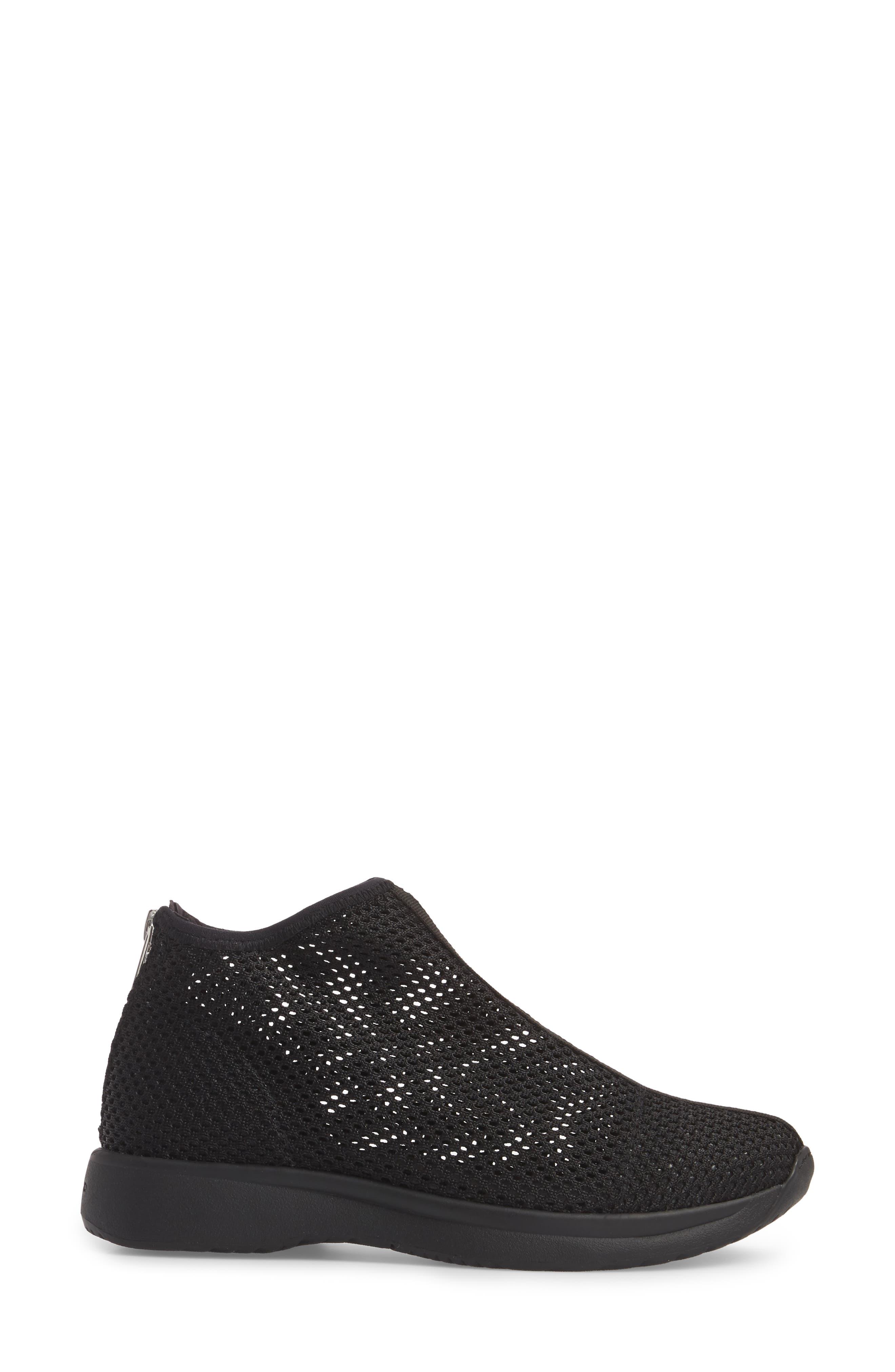 Cintia Sneaker,                             Alternate thumbnail 3, color,                             BLACK FABRIC