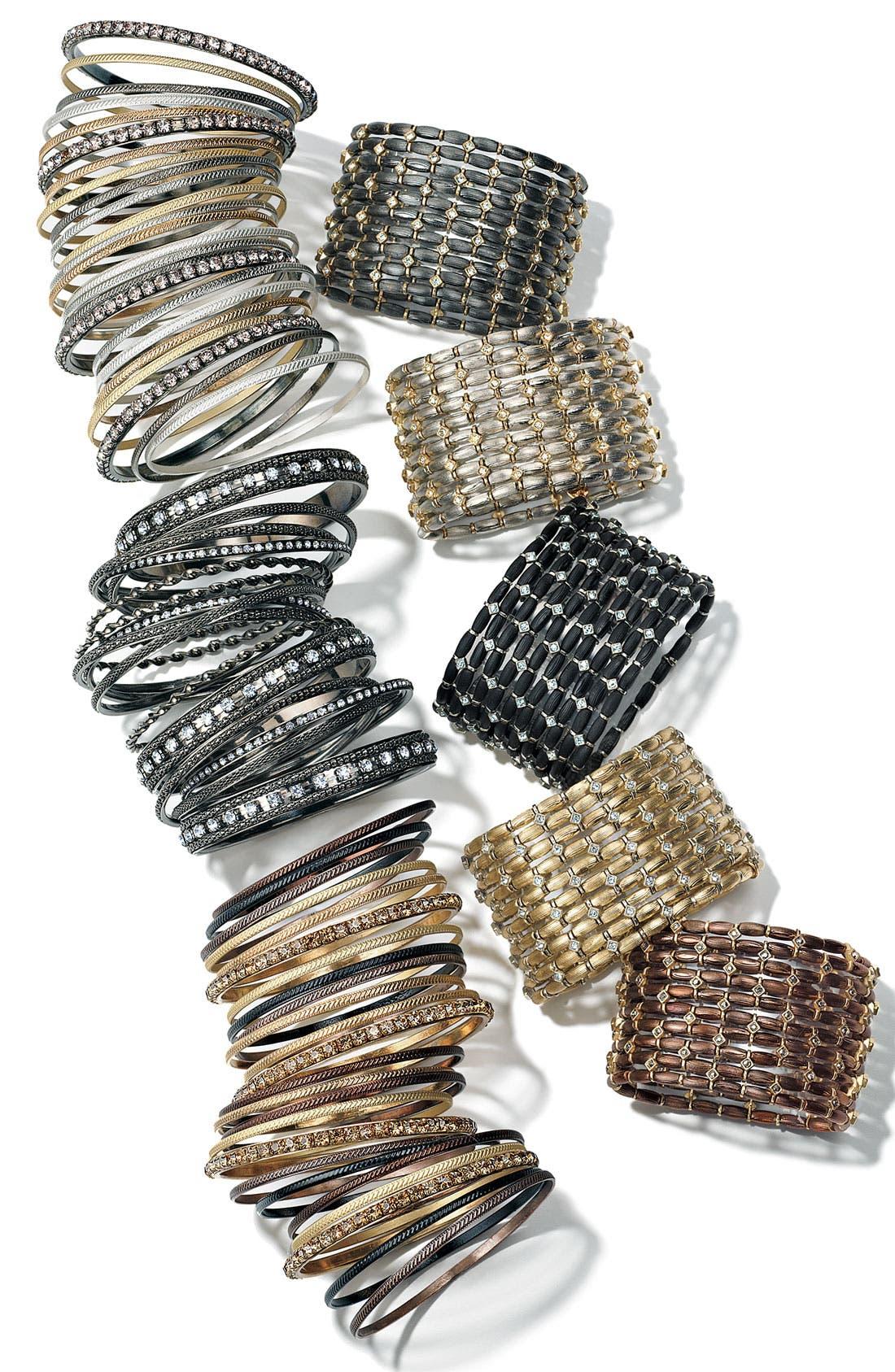 CARA,                             Accessories Metal & Crystal Bangles,                             Alternate thumbnail 2, color,                             001