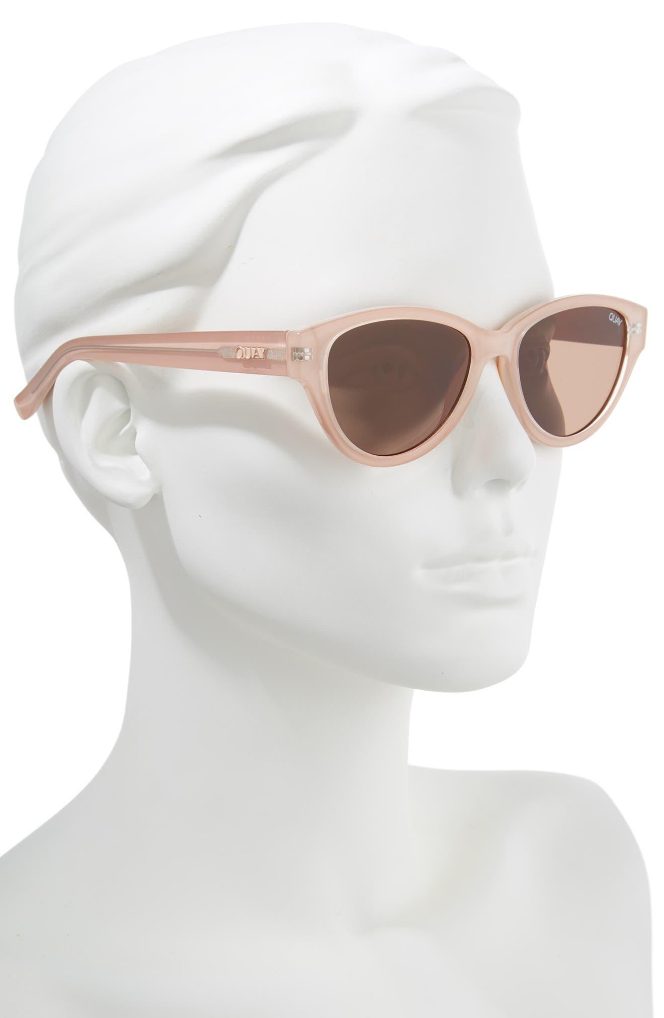 Rizzo 55mm Cat Eye Sunglasses,                             Alternate thumbnail 2, color,                             CREAM/ BROWN