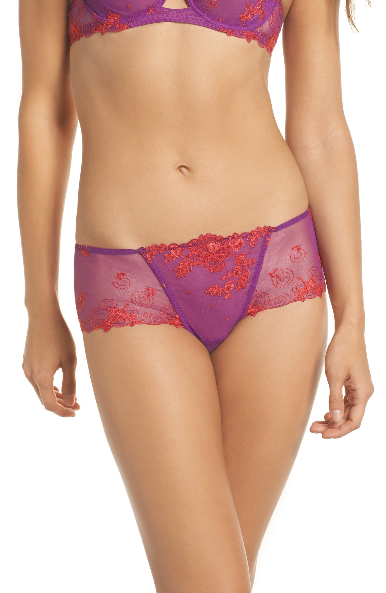 Baisers de Fleurs Boyshorts,                             Main thumbnail 1, color,                             930