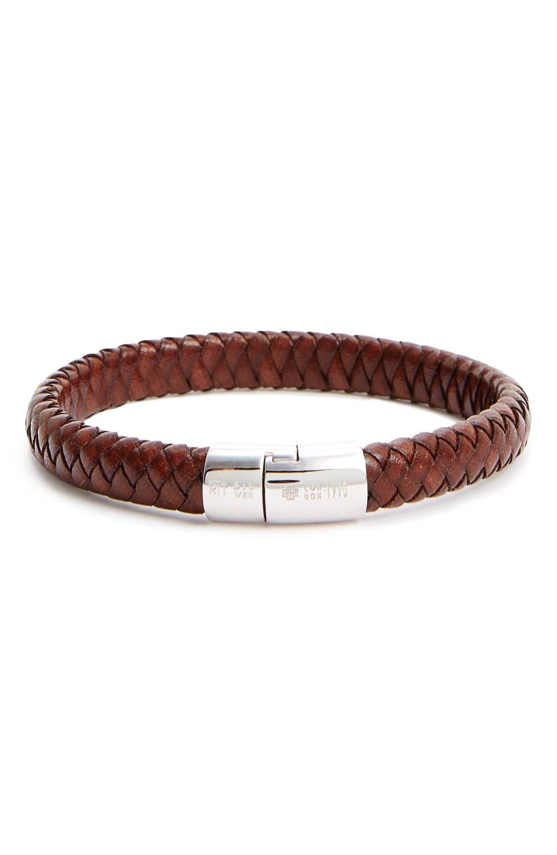 'Cobra Classic' Bracelet,                             Main thumbnail 1, color,                             BROWN KHAKI