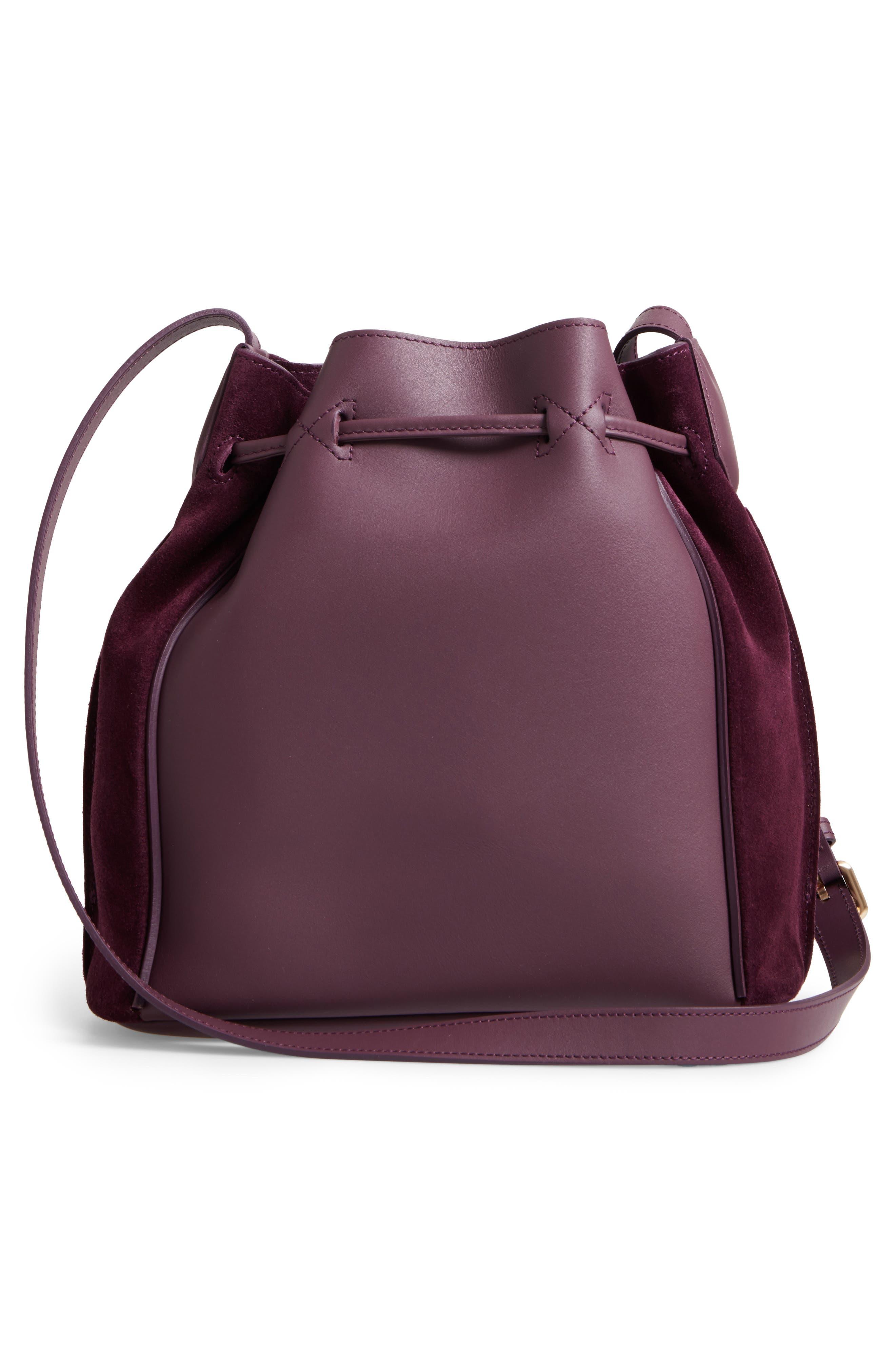 Penelope Fantasie Leather Bucket Bag,                             Alternate thumbnail 7, color,