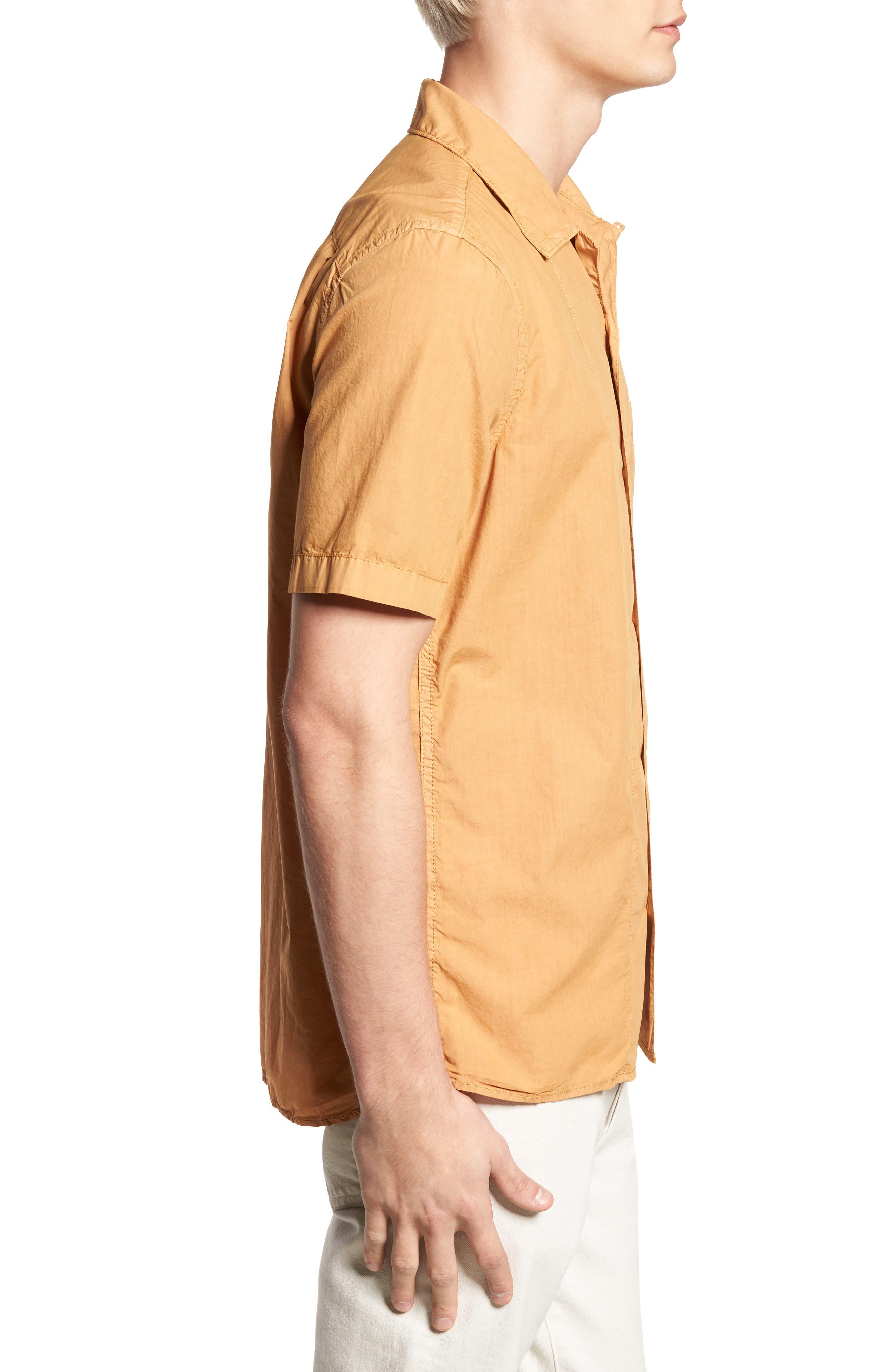 Slim Fit Solid Sport Shirt,                             Alternate thumbnail 3, color,                             DOE
