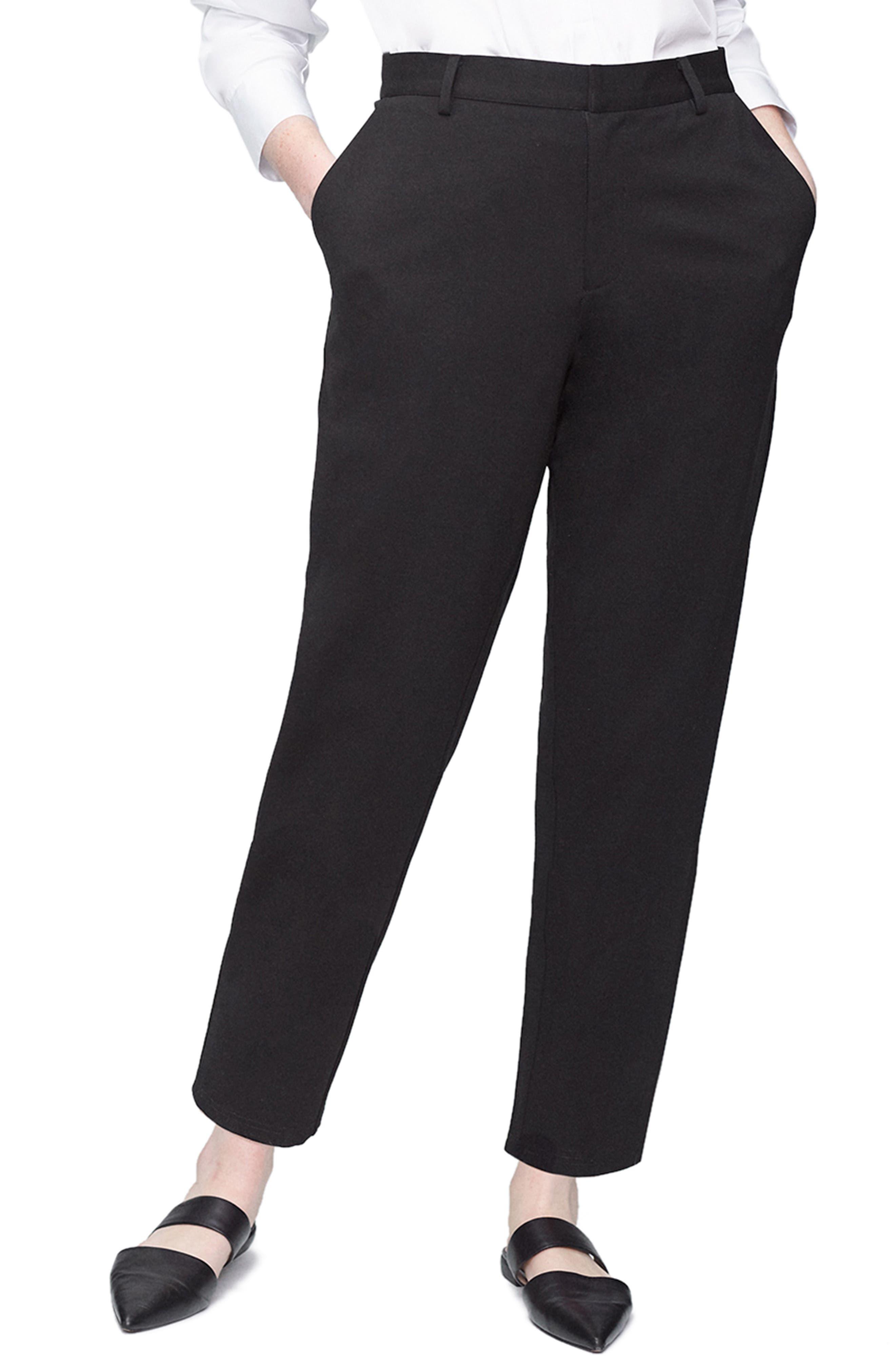 Cigarette Pants, Main, color, BLACK