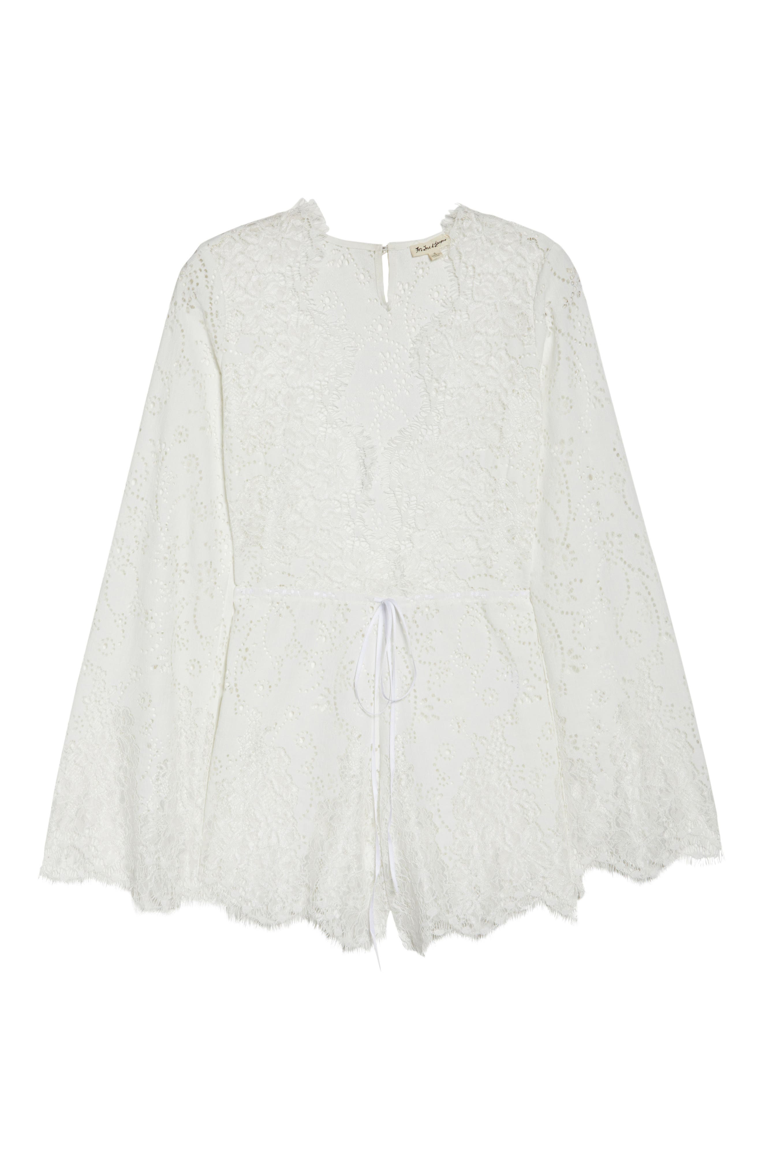 Olympia Lace Cover-Up Romper,                             Alternate thumbnail 12, color,