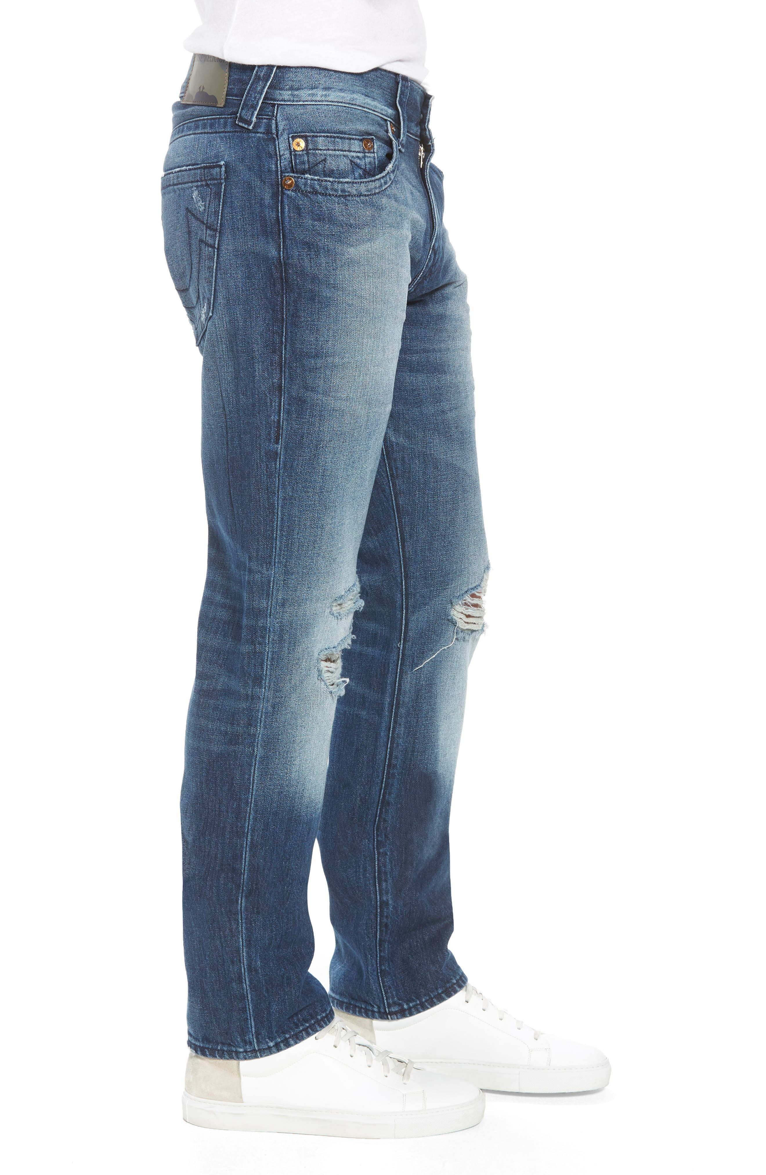 Geno Straight Leg Jeans,                             Alternate thumbnail 3, color,                             WORN SUSPECT