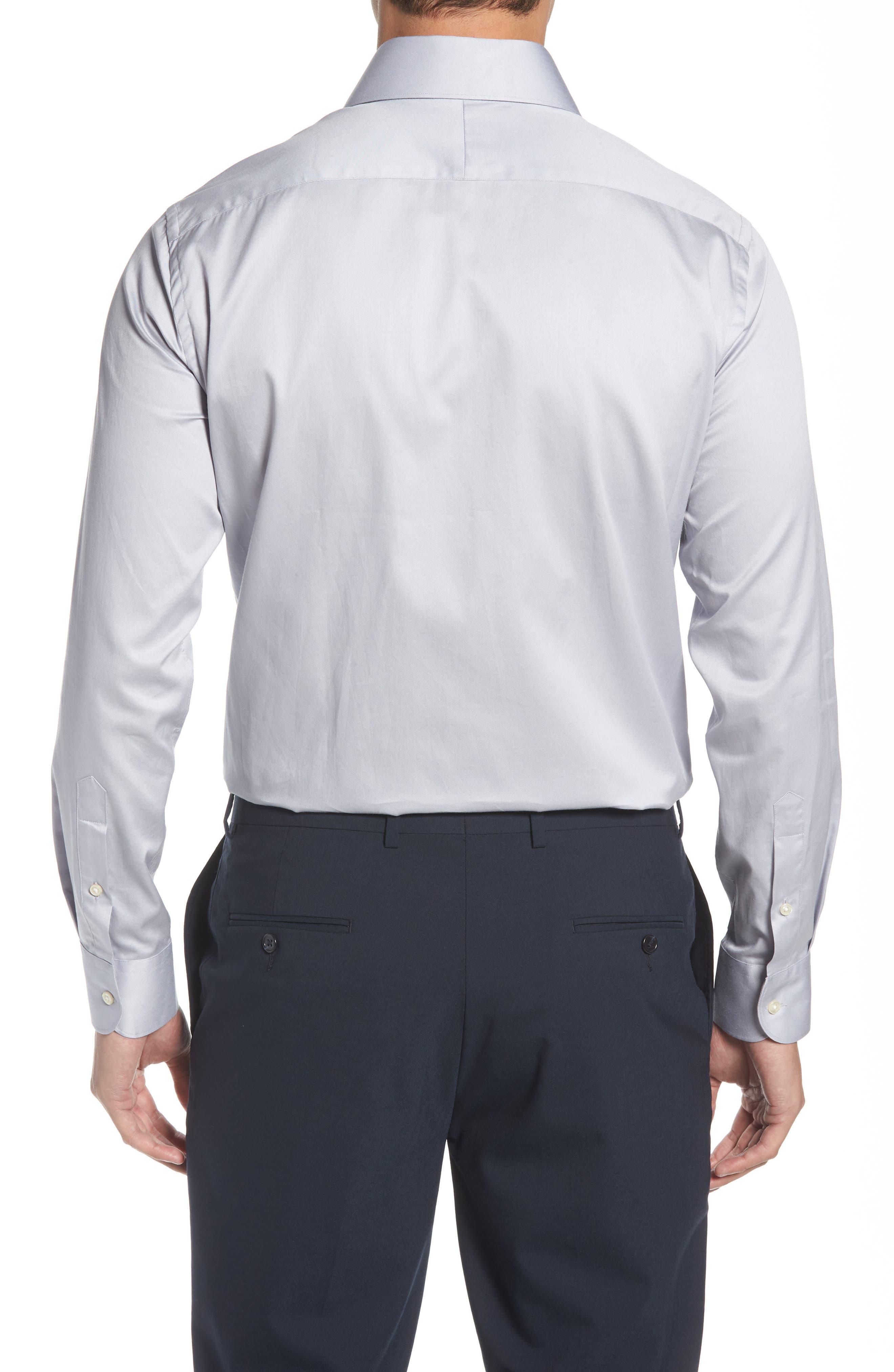Regular Fit Solid Dress Shirt,                             Alternate thumbnail 3, color,                             020