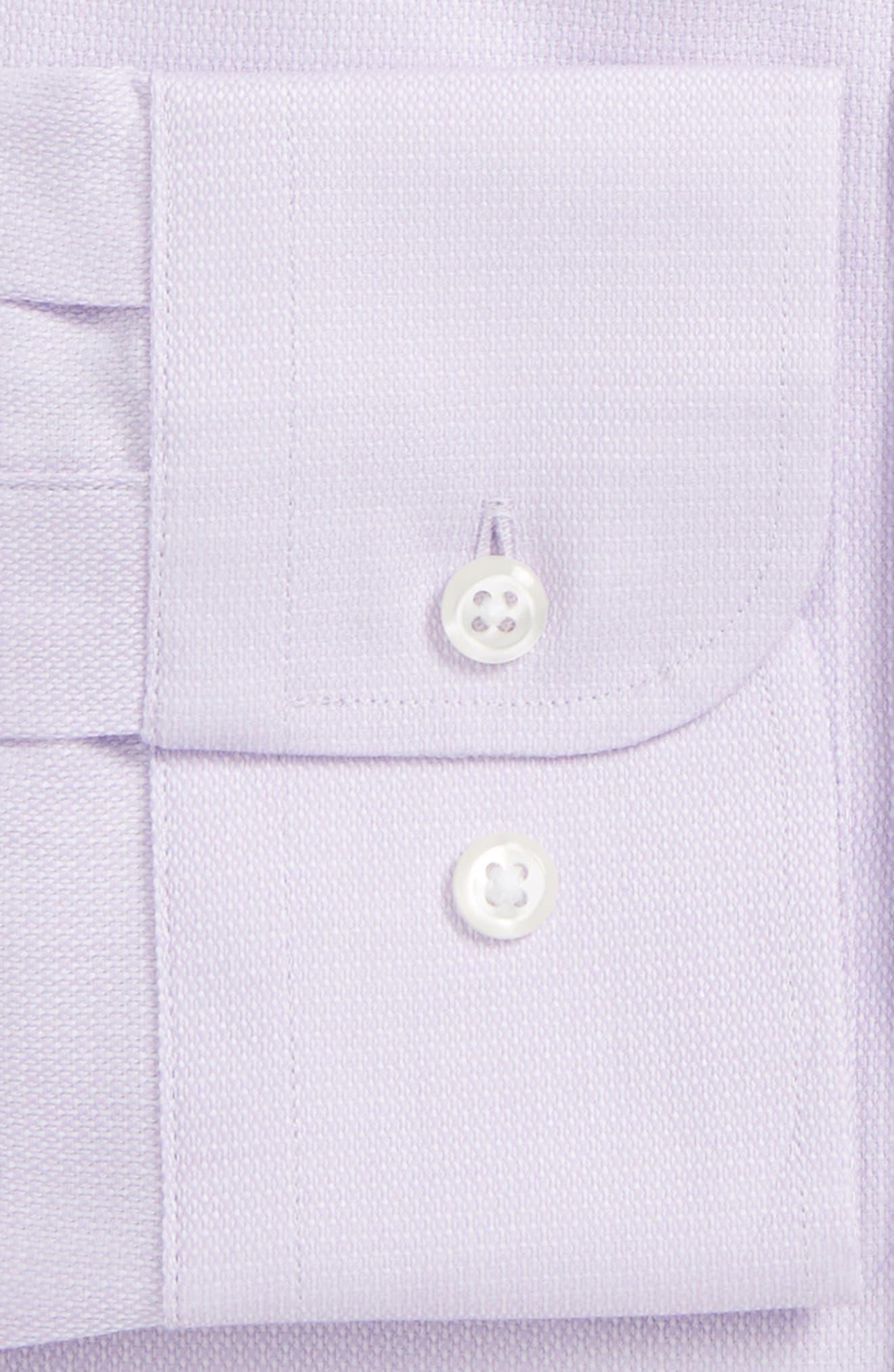 Trim Fit Solid Dress Shirt,                             Alternate thumbnail 6, color,                             530