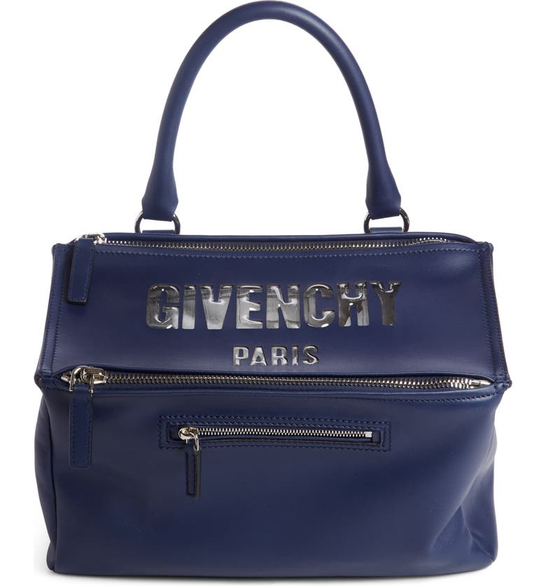 7d030ffbe152 Givenchy Medium Pandora Bubble Logo Leather Satchel