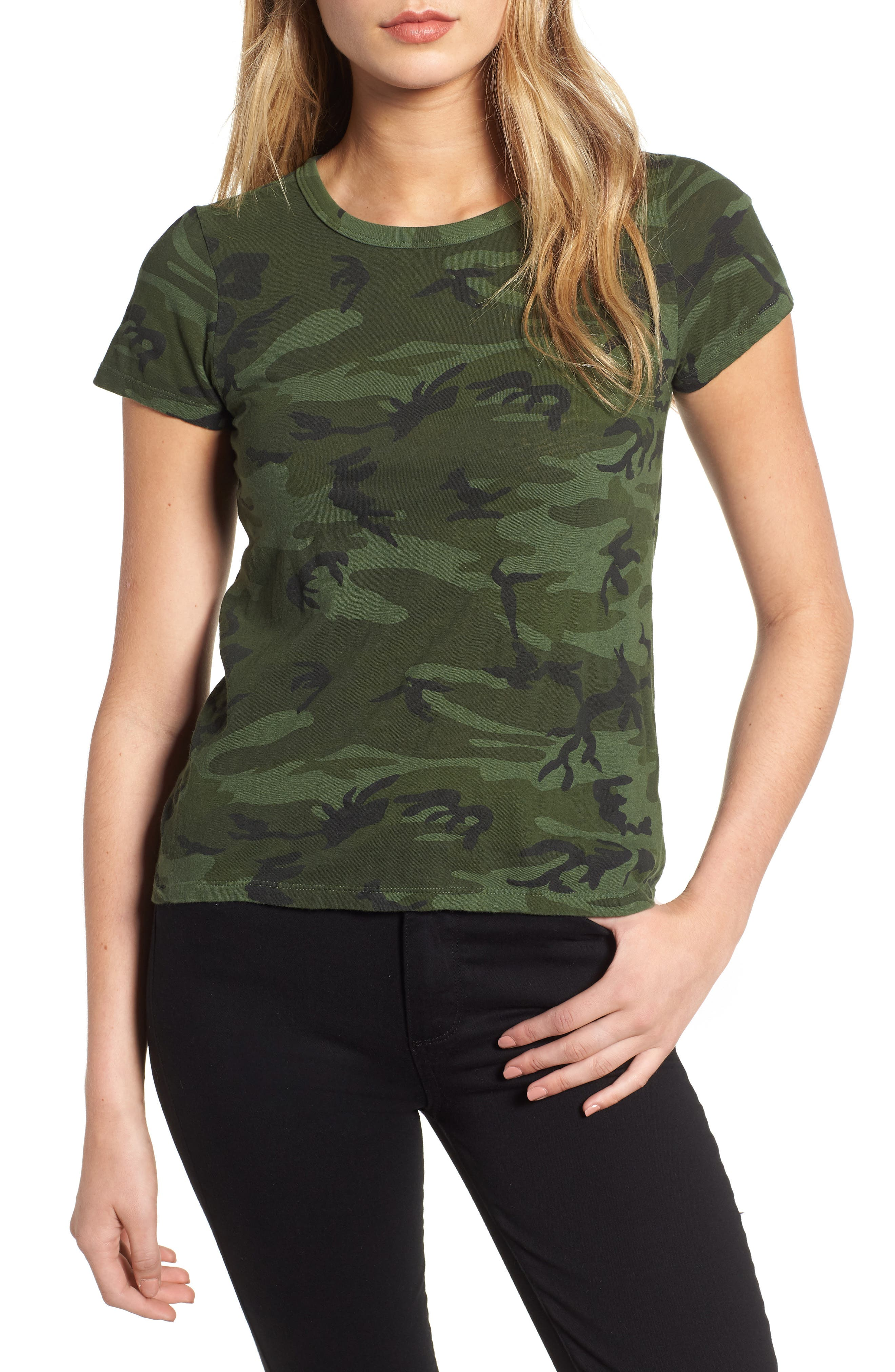 Camo Print Tee,                             Main thumbnail 1, color,                             371