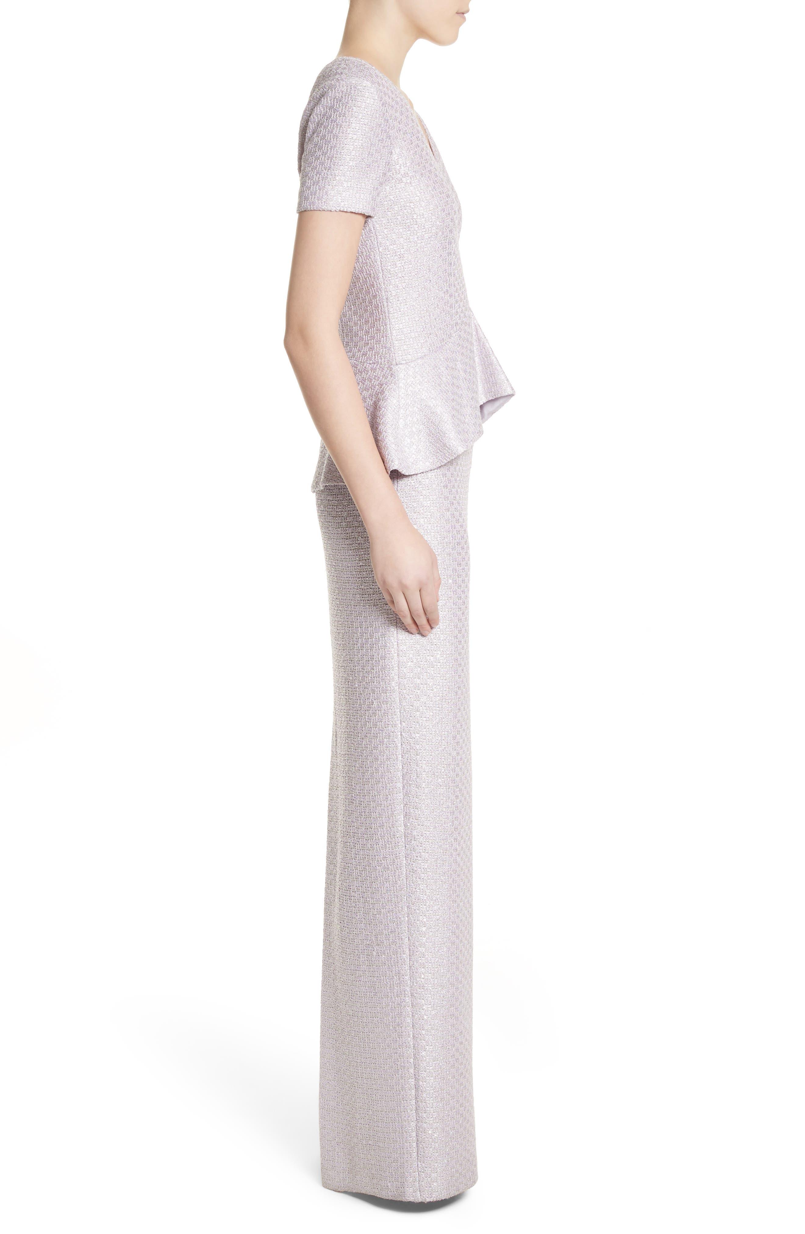 Hansh Sequin Knit Column Gown,                             Alternate thumbnail 3, color,                             530