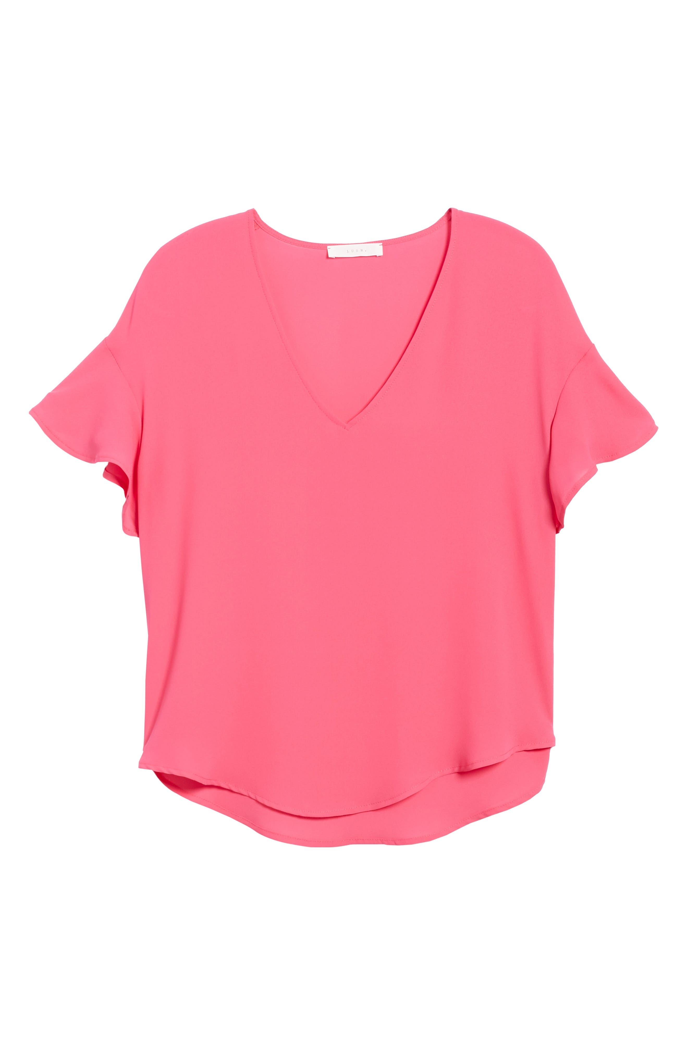 Crepe Tee,                             Alternate thumbnail 46, color,