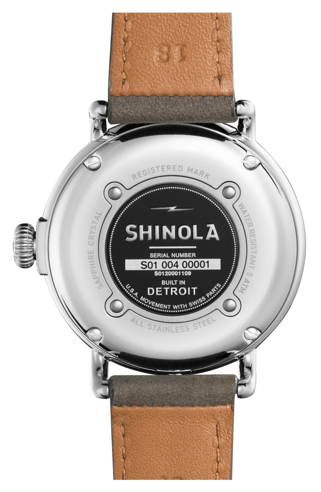 'The Runwell' Leather Strap Watch, 47mm,                             Alternate thumbnail 20, color,
