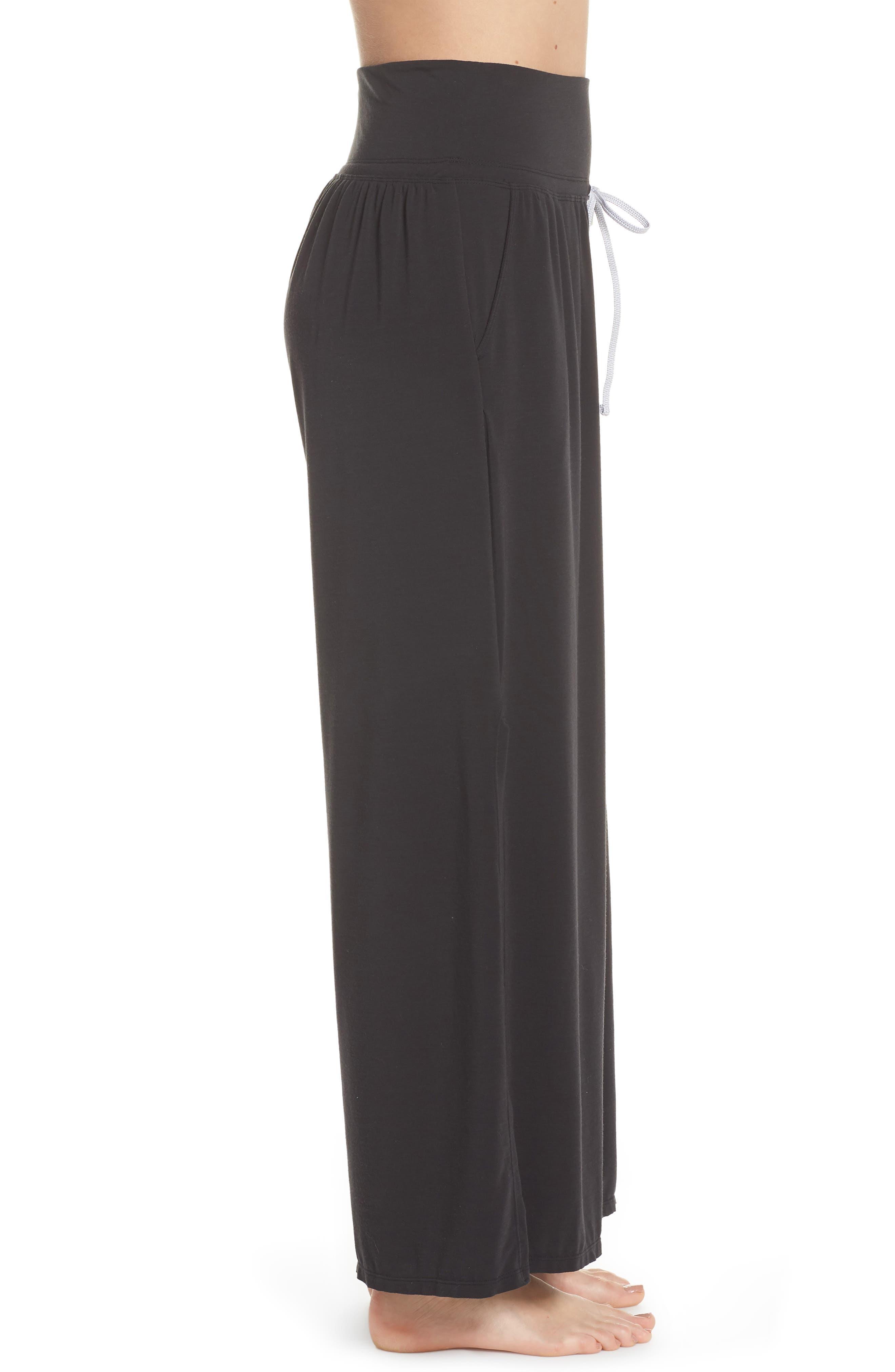 Easy Breezy Wide Leg Cover-Up Pants,                             Alternate thumbnail 3, color,                             BLACK