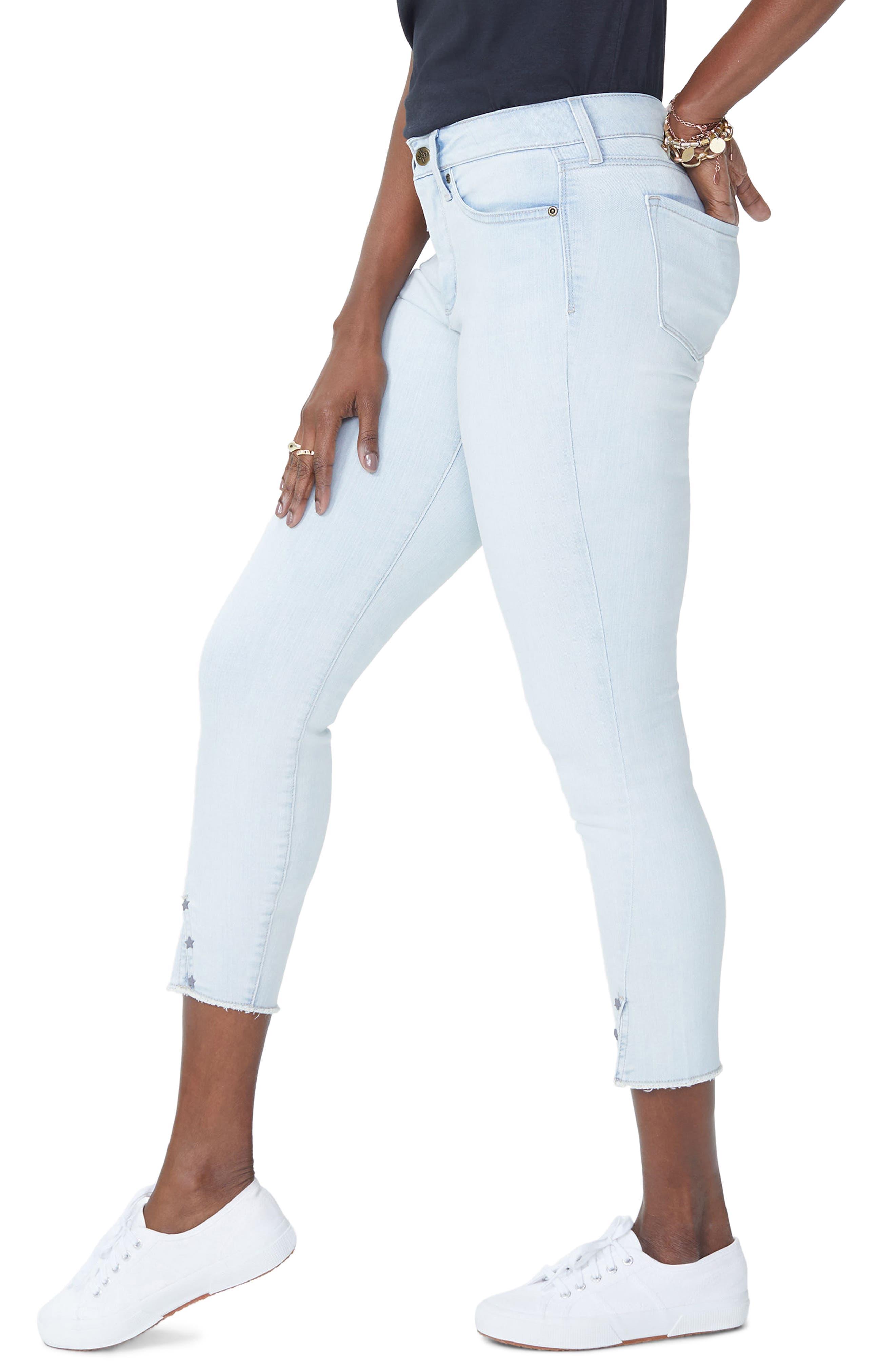 Ami High Waist Twist Seam Stretch Ankle Skinny Jeans,                             Alternate thumbnail 3, color,                             PALM DESERT