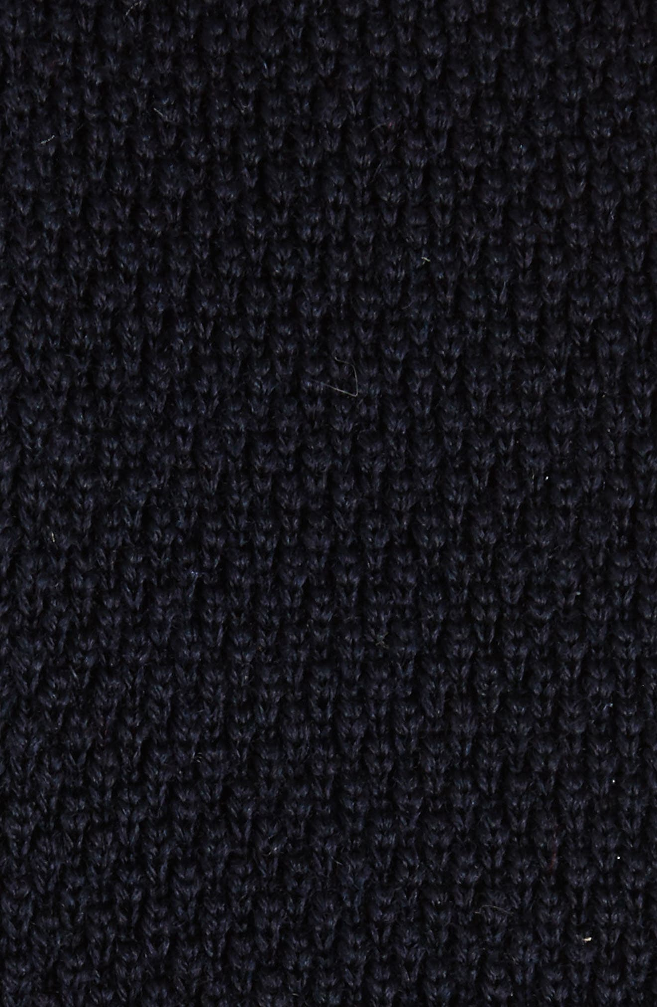 Solid Knit Wool Skinny Tie,                             Alternate thumbnail 8, color,
