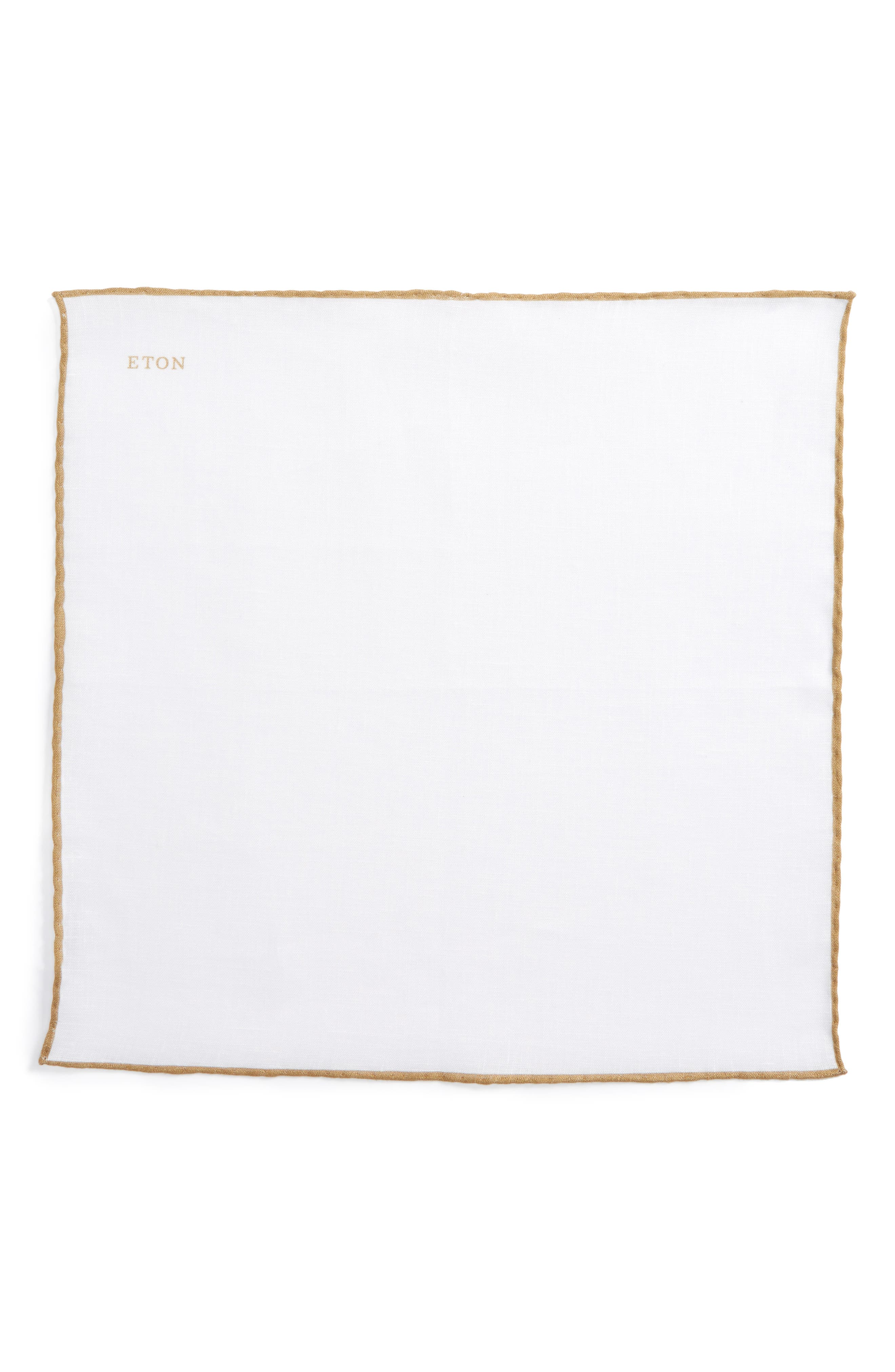 Solid Linen Pocket Square,                             Alternate thumbnail 2, color,                             TAUPE