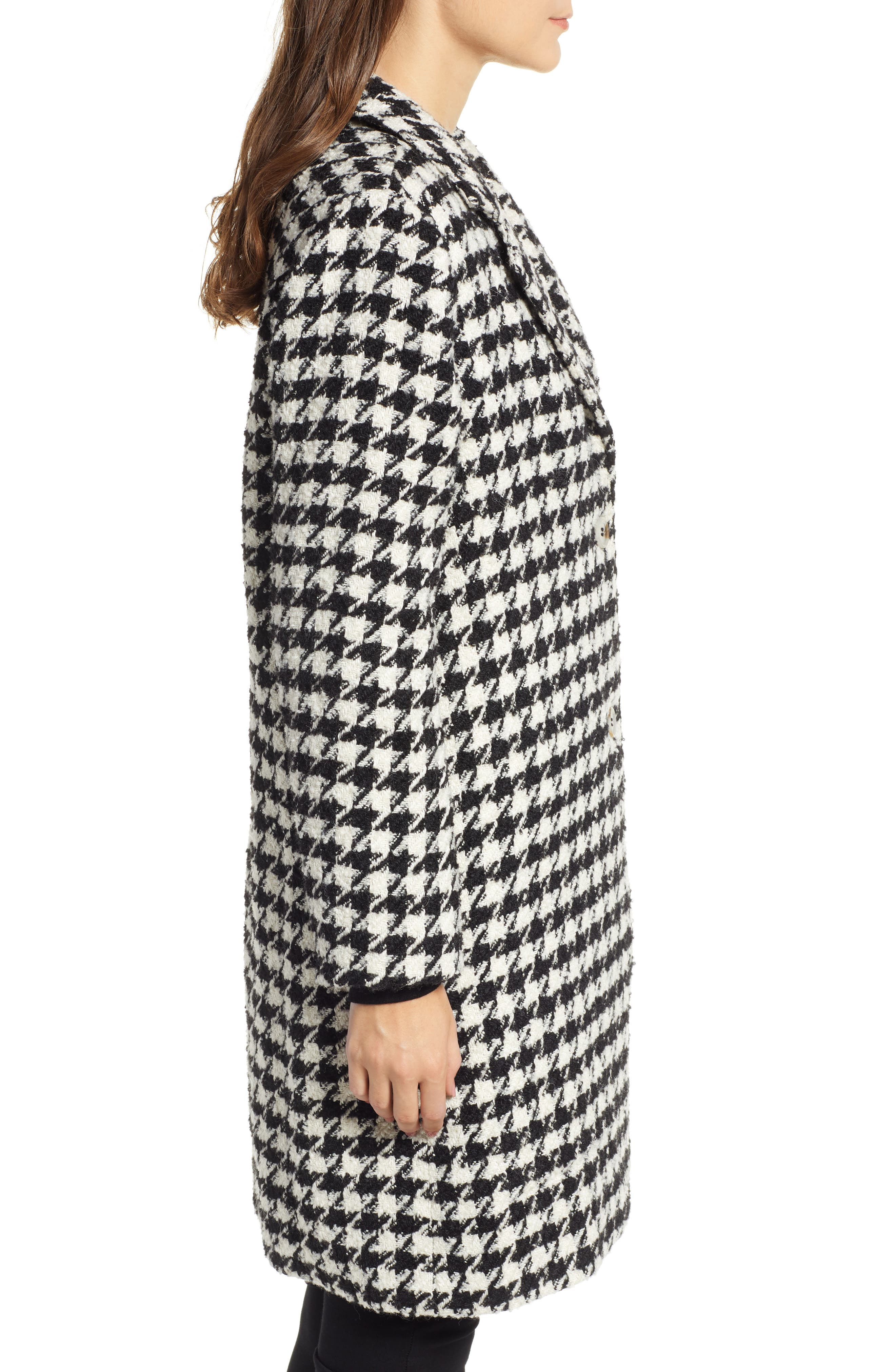 Houndstooth Coat,                             Alternate thumbnail 3, color,                             001