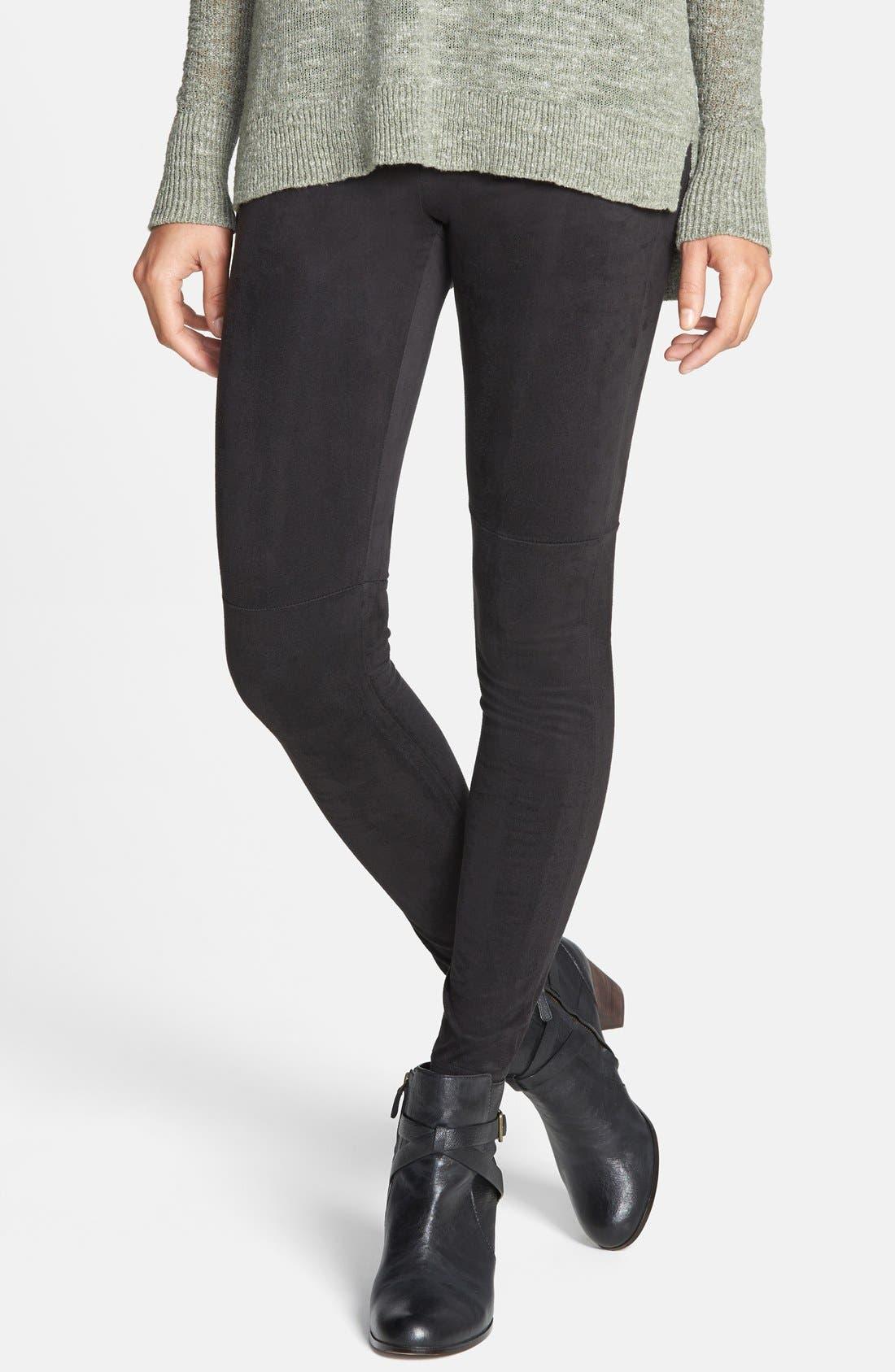 'Ultra Suede' Leggings,                         Main,                         color, 001