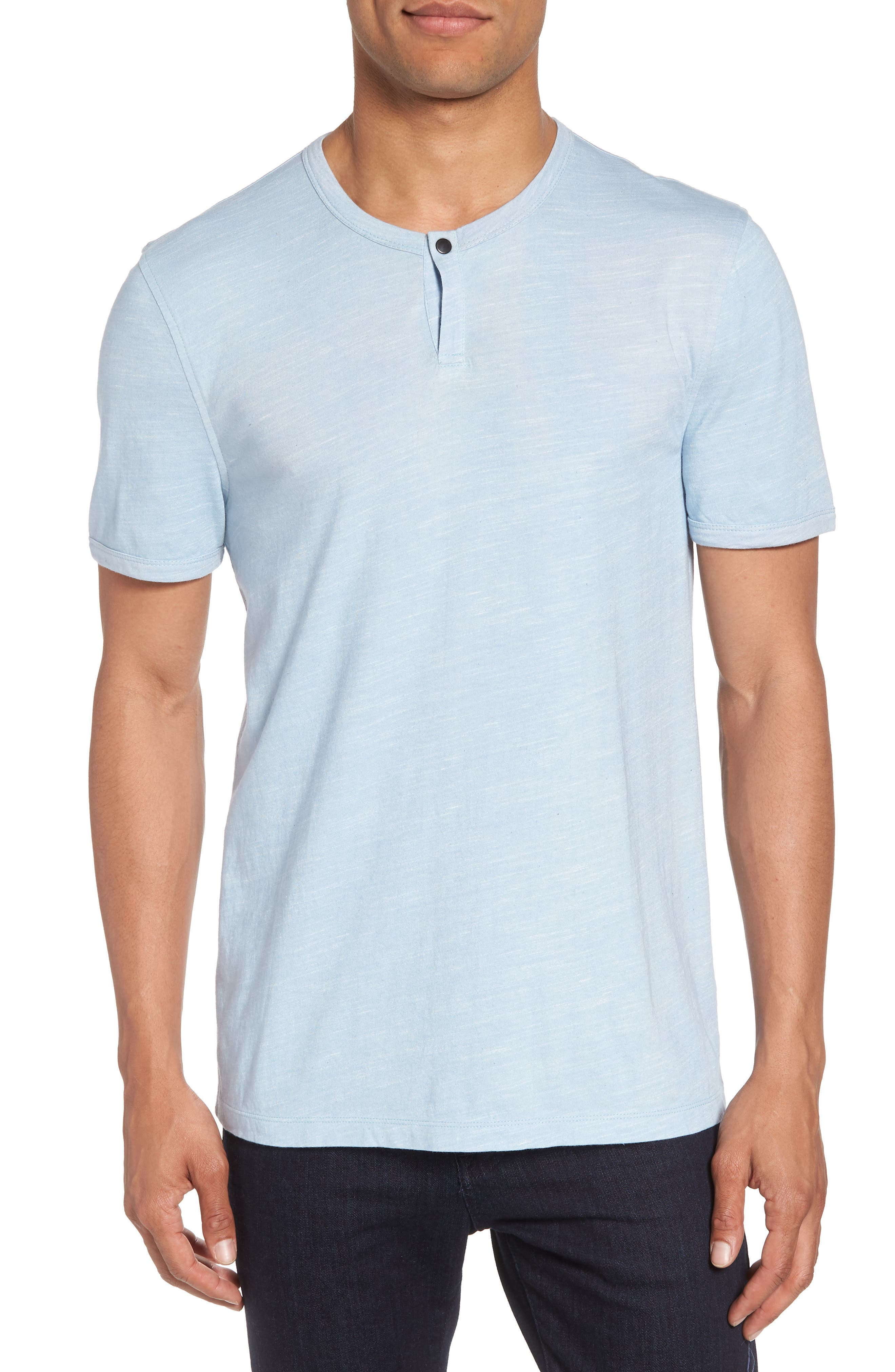 Space Dyed One-Button Henley T-Shirt,                             Main thumbnail 3, color,