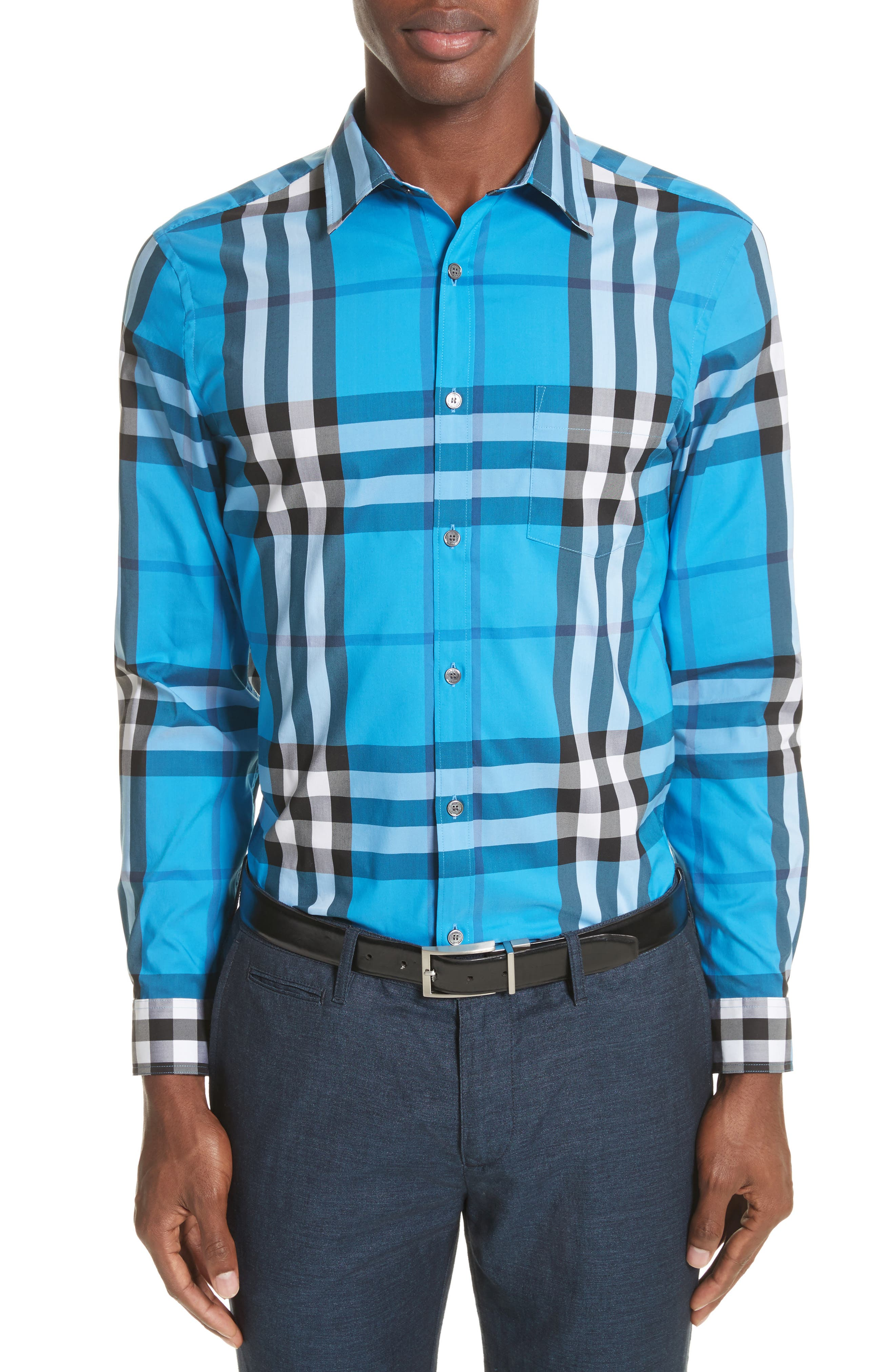 Nelson Check Sport Shirt,                             Main thumbnail 18, color,