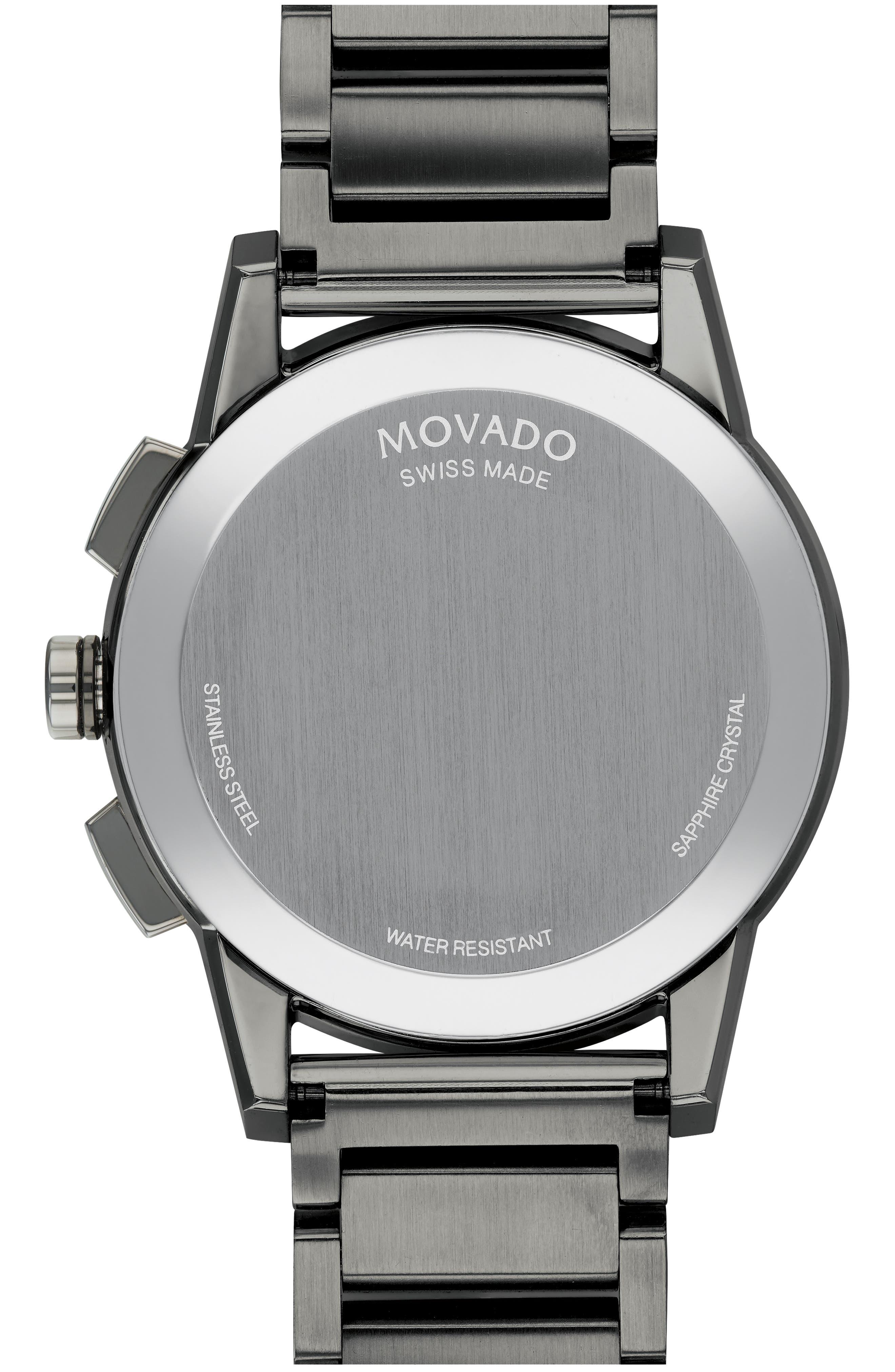 Museum Sport Chronograph Bracelet Watch, 43mm,                             Alternate thumbnail 2, color,                             GUNMETAL/ BLACK